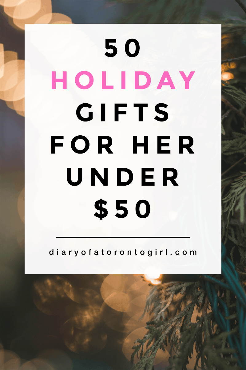 Holiday gift ideas for her under $50. Whether she's into beauty, fashion, or tech, there's bound to be something on this list she'll love!