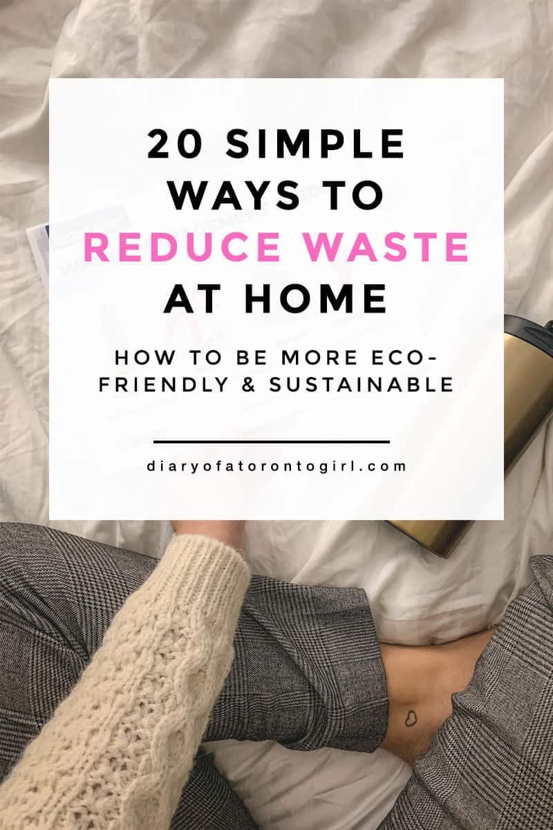 Trying to be more environmentally conscious? Here are some simple and easy ways to reduce waste and go more green in your home!