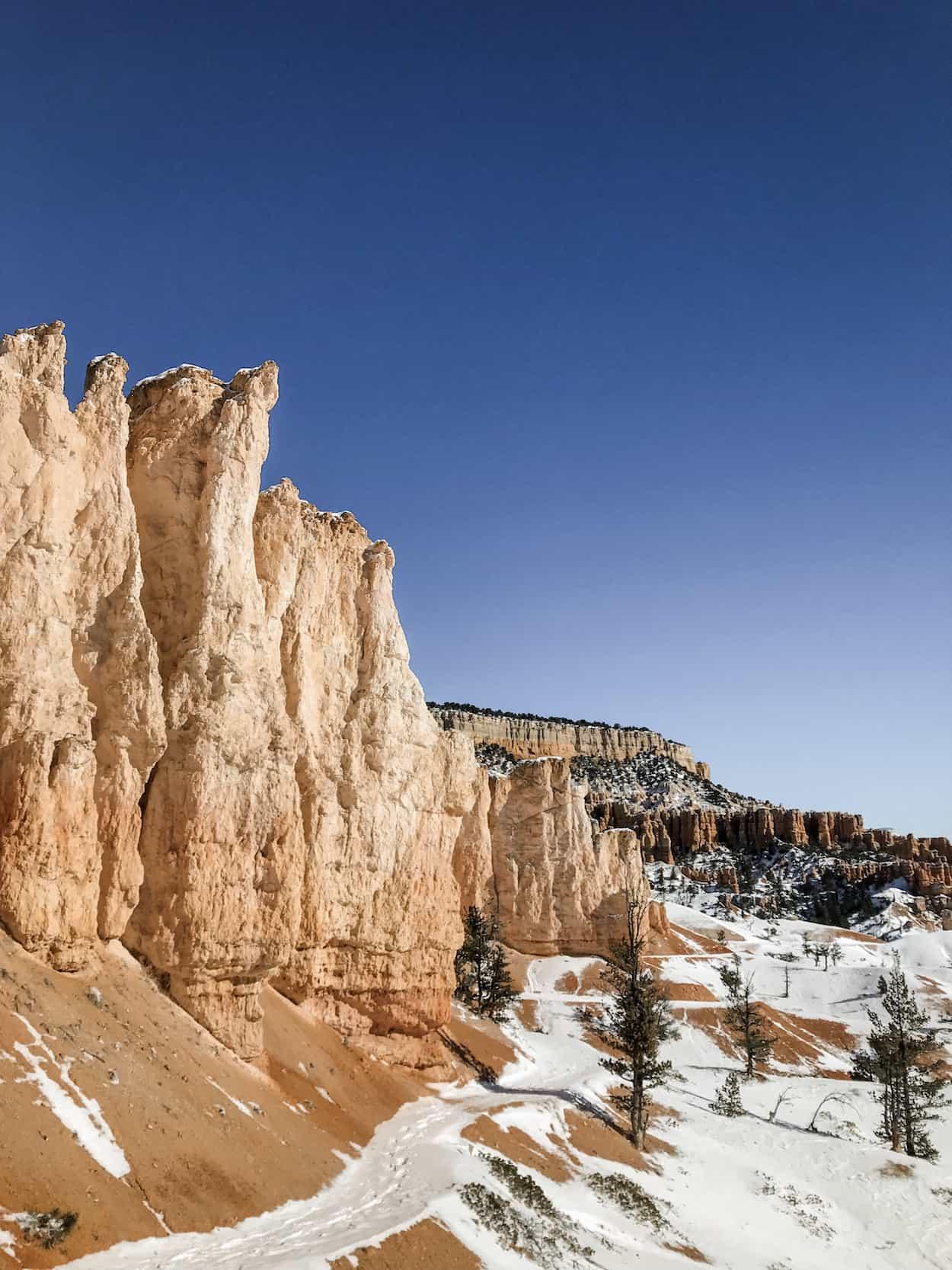 Views of Bryce Canyon National Park, Utah during the winter season