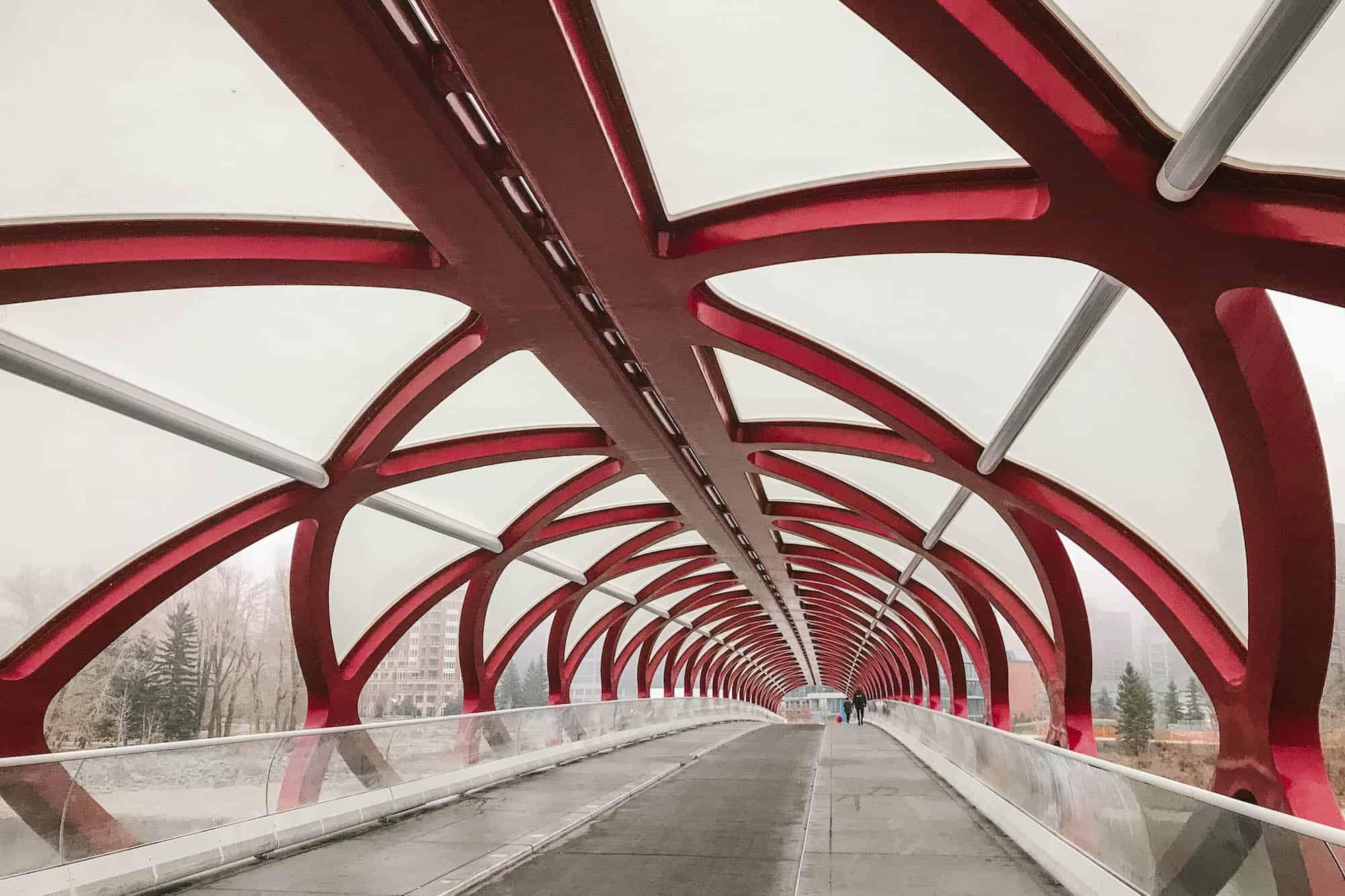 Peace Bridge in Calgary, Alberta