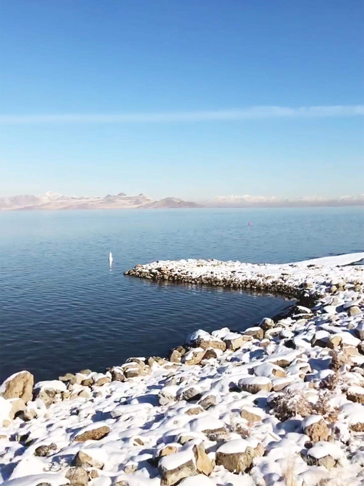 Great Salt Lake in Salt Lake City, Utah