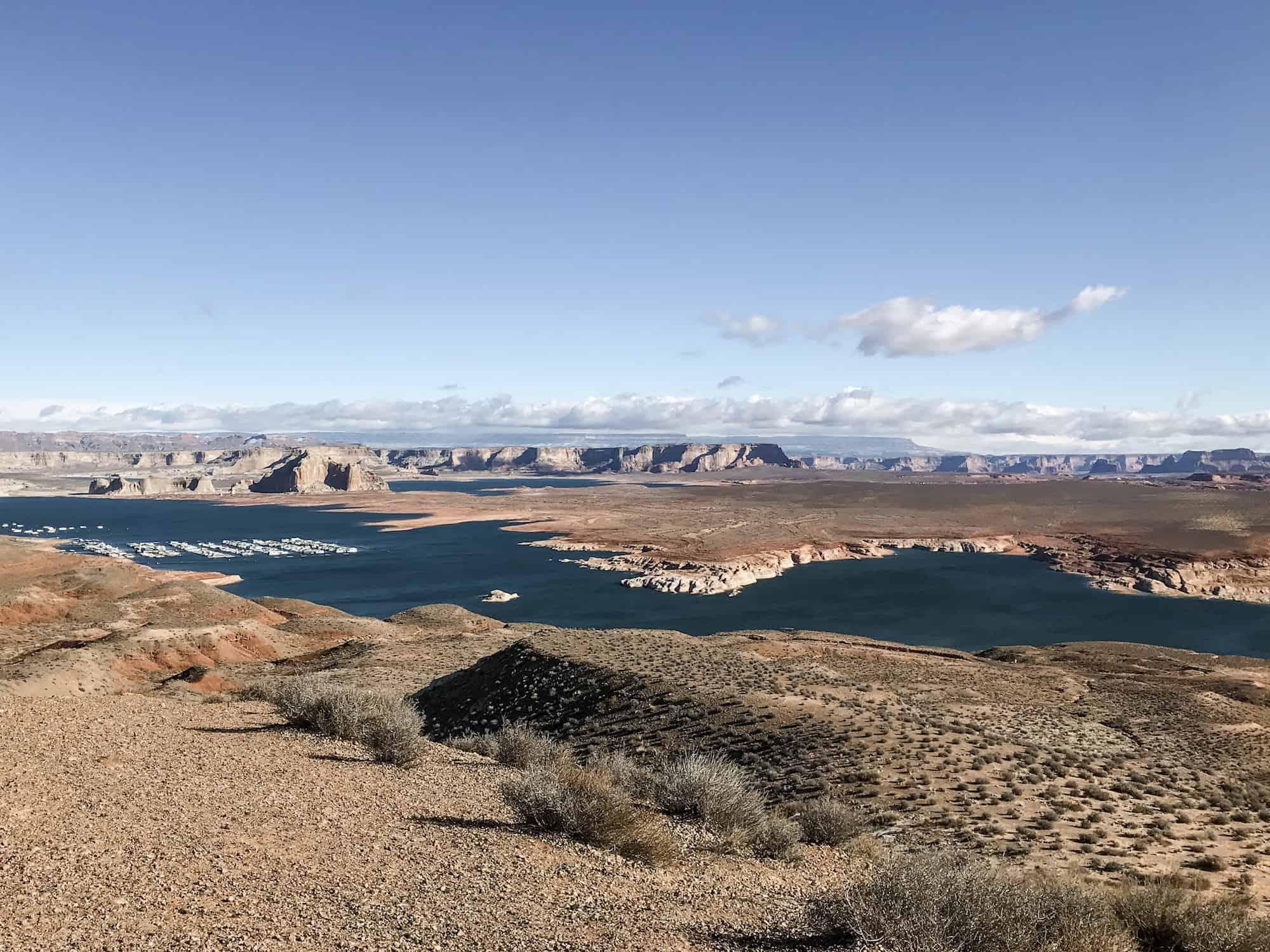 A scenic look at Lake Powell, Arizona