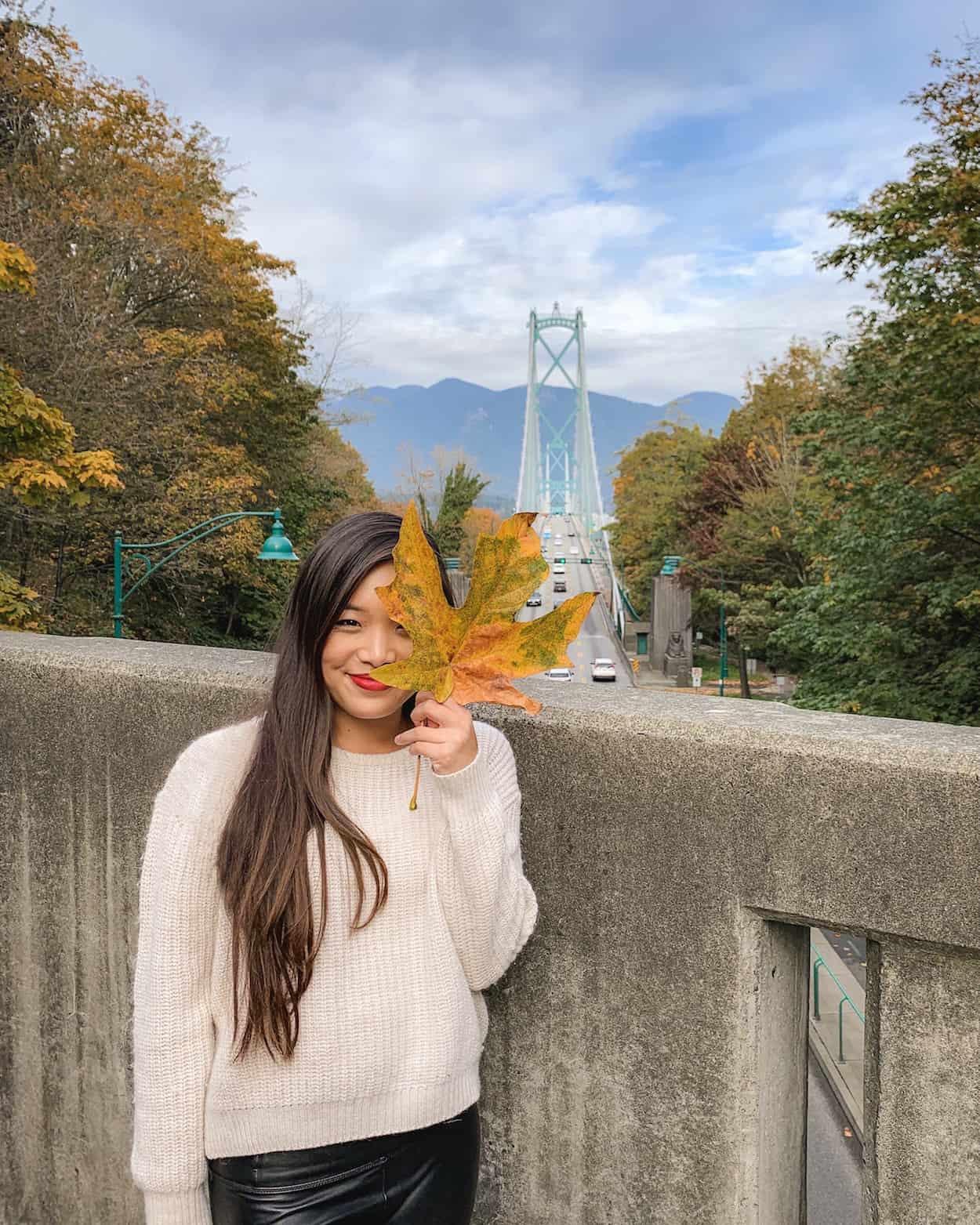 The Lion's Gate Bridge in Stanley Park, Vancouver