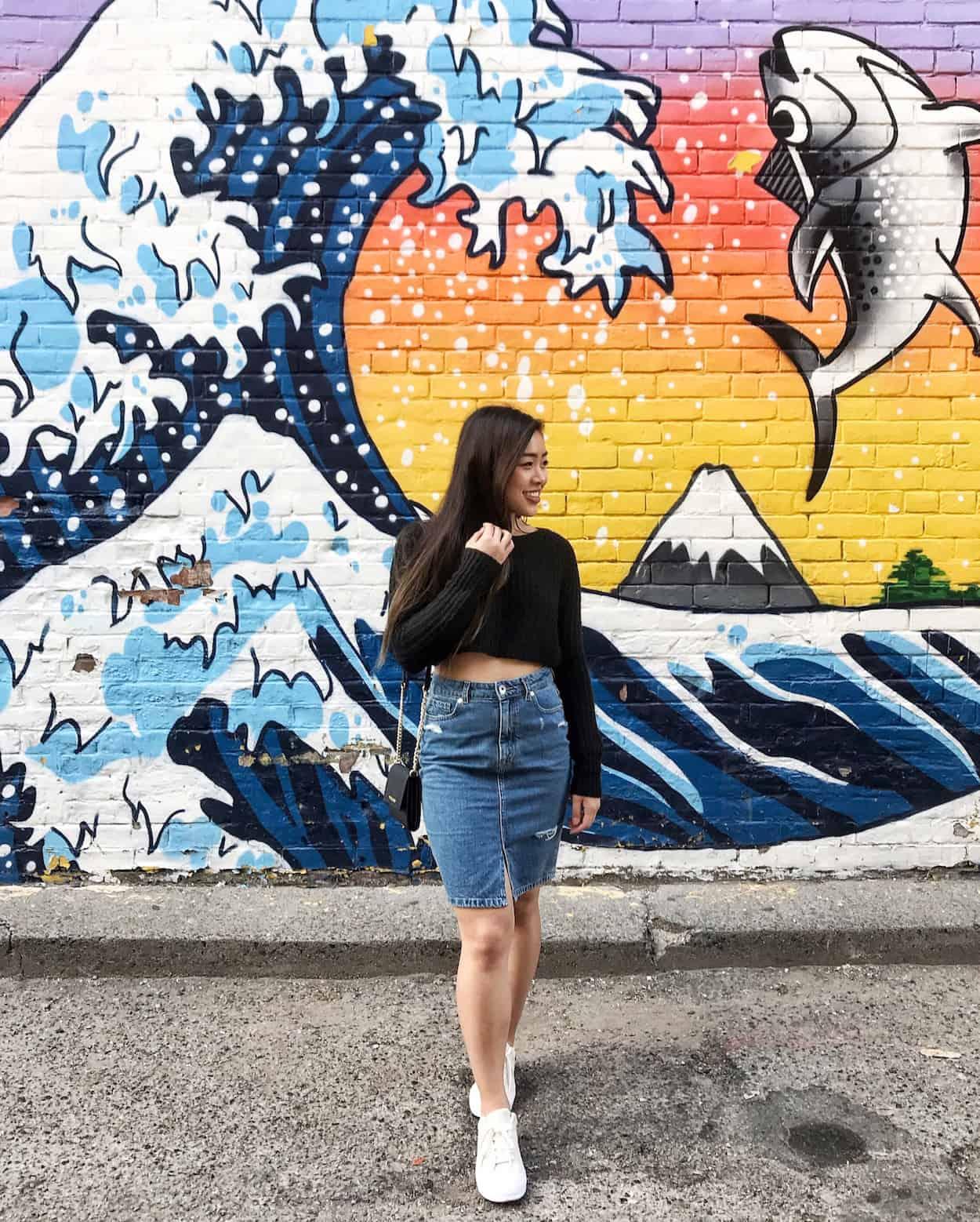 Kinka Izakaya mural in Toronto