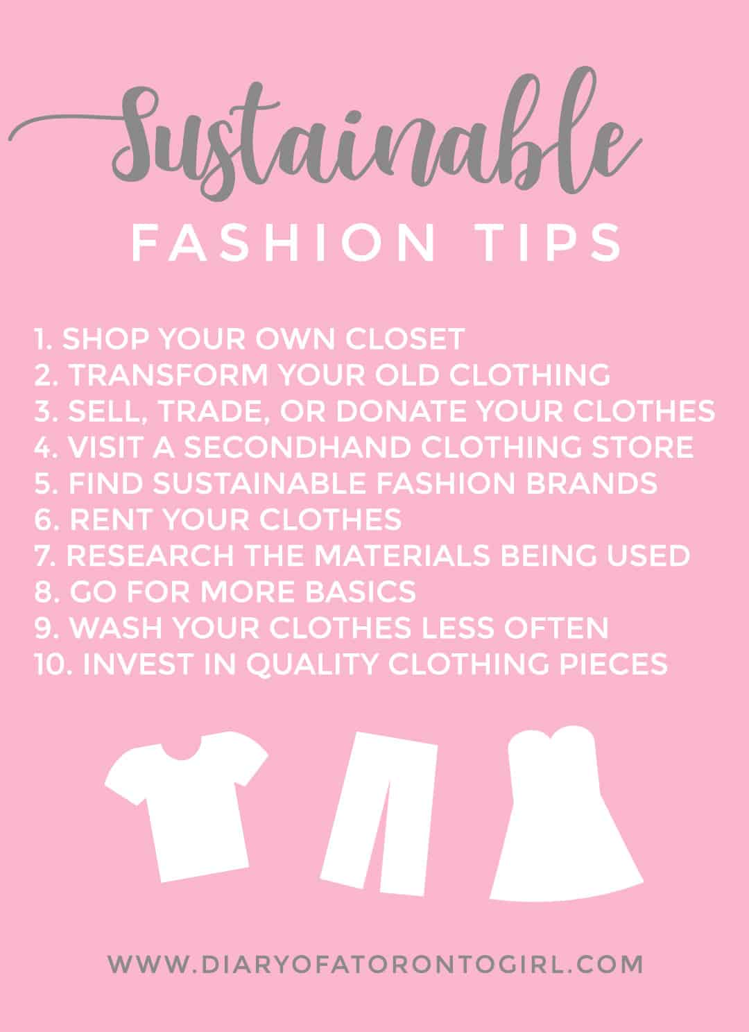 Fast fashion is extremely damaging to the environment – here are some of my tips on how to make more sustainable fashion and shopping decisions!