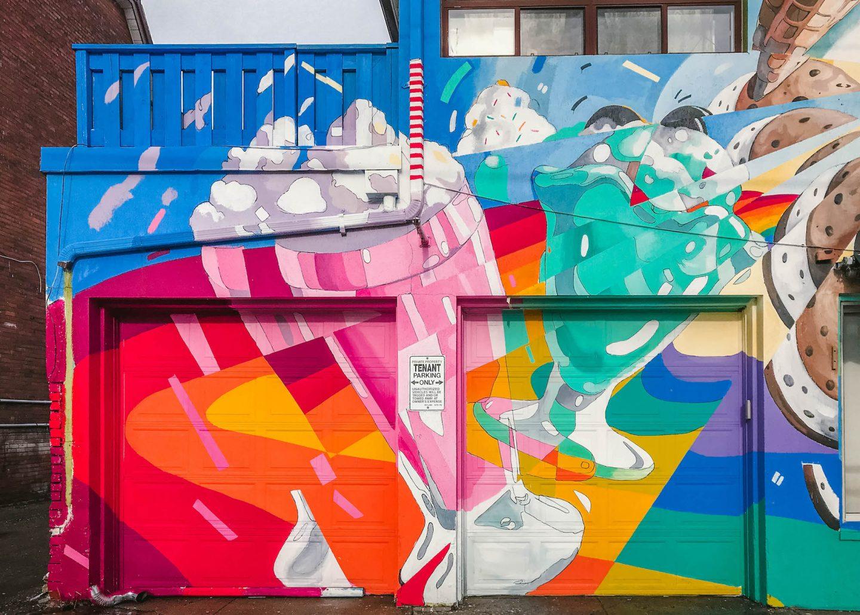Ice cream mural in Little Italy, Toronto