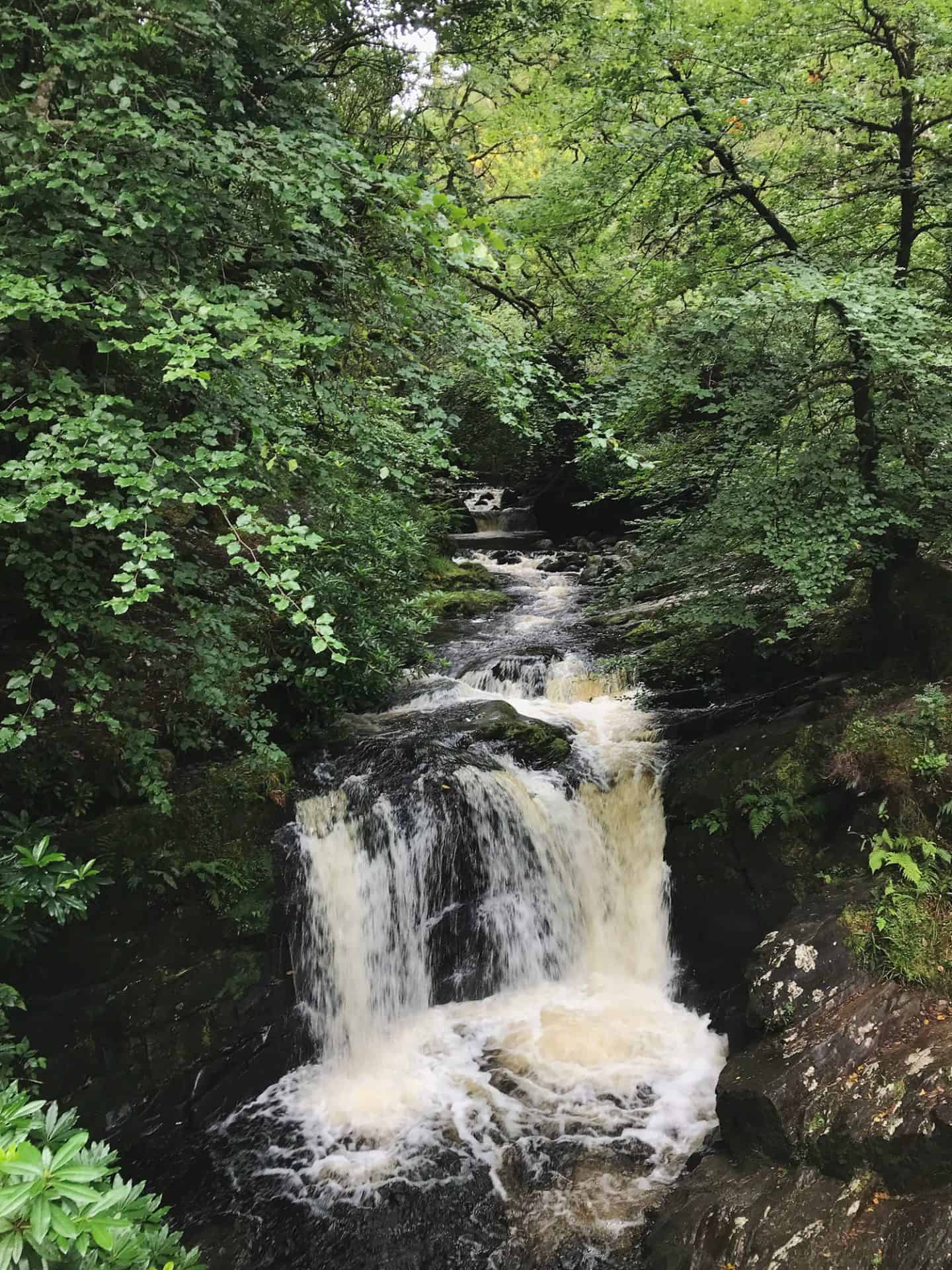 Torc Waterfall in Killarney National Park along Ireland's Ring of Kerry drive
