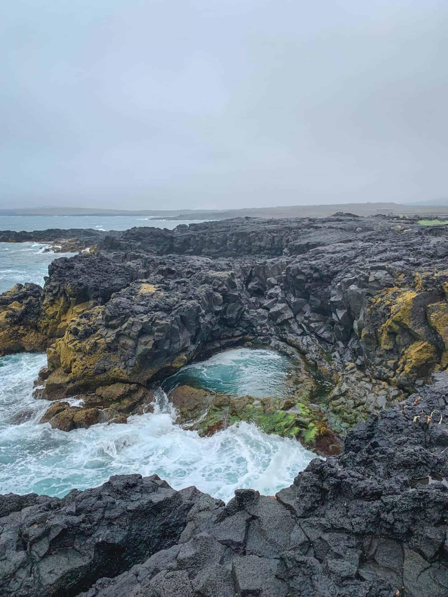 Brimketill lava rock pool in Iceland