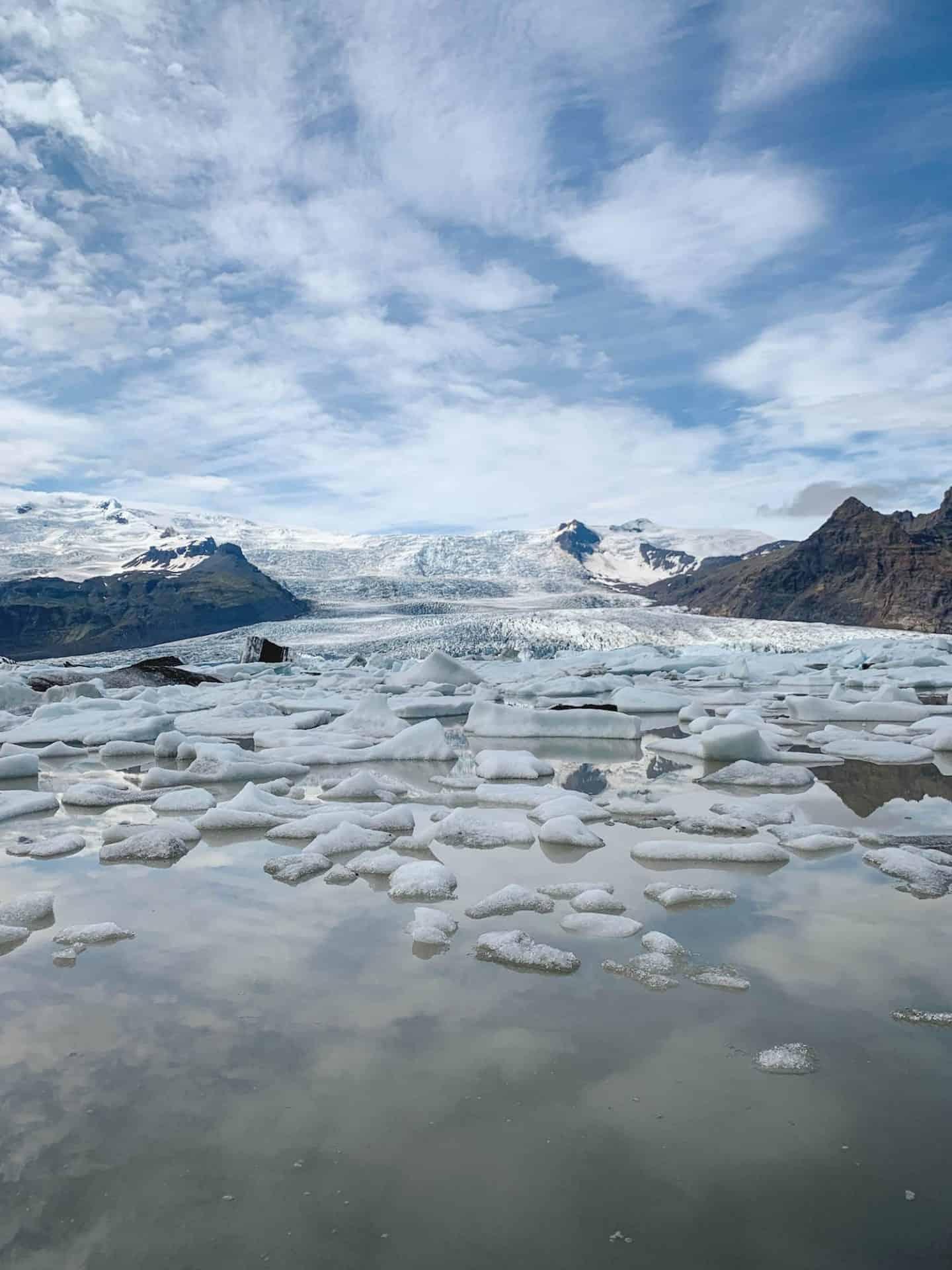 Fjallsárlón Glacier Lagoon along the Ring Road in Iceland