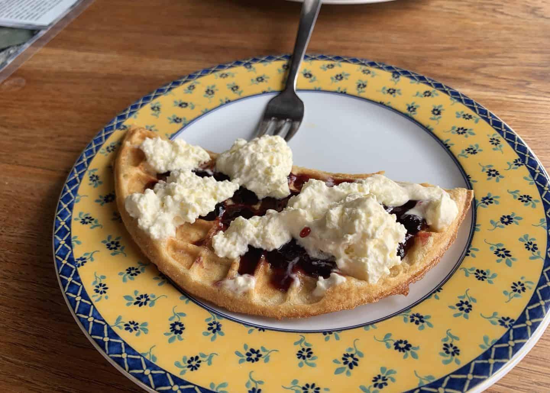 Franska kaffihúsið serves up some of the best waffles in the Westfjords of Iceland