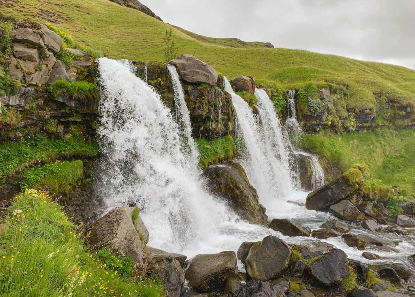 Gluggafoss Waterfall along the Ring Road in Iceland