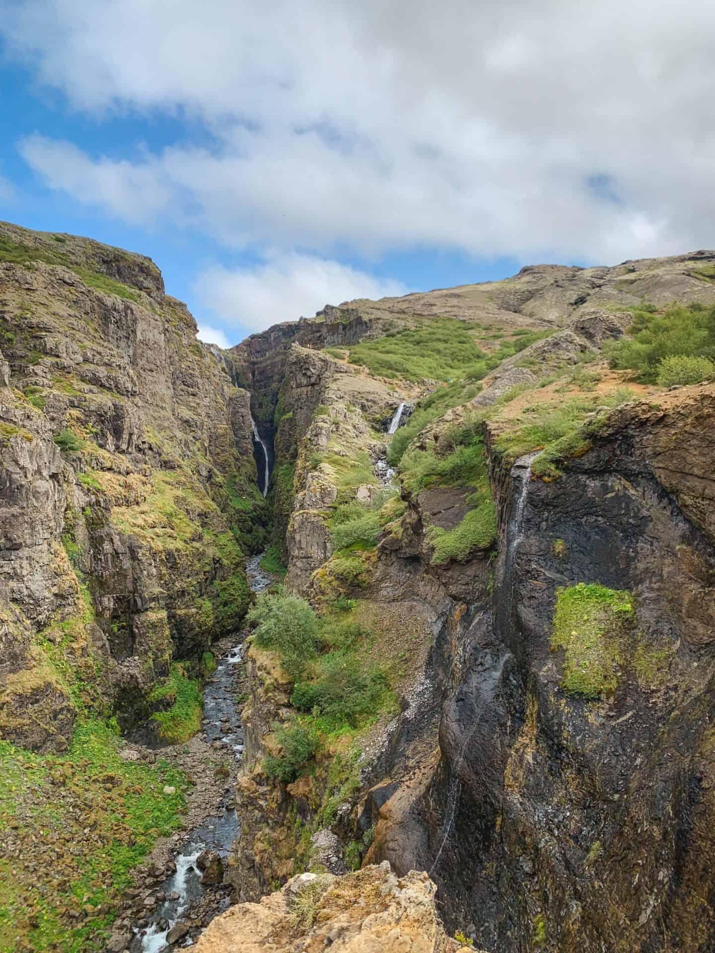 Glymur Waterfall hike in Iceland