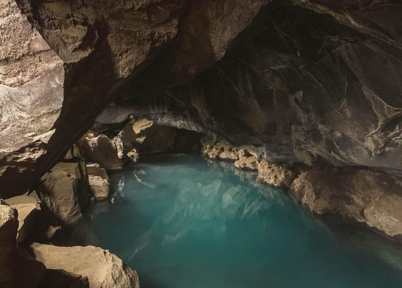 Grjótagjá Cave in Myvatn, Iceland