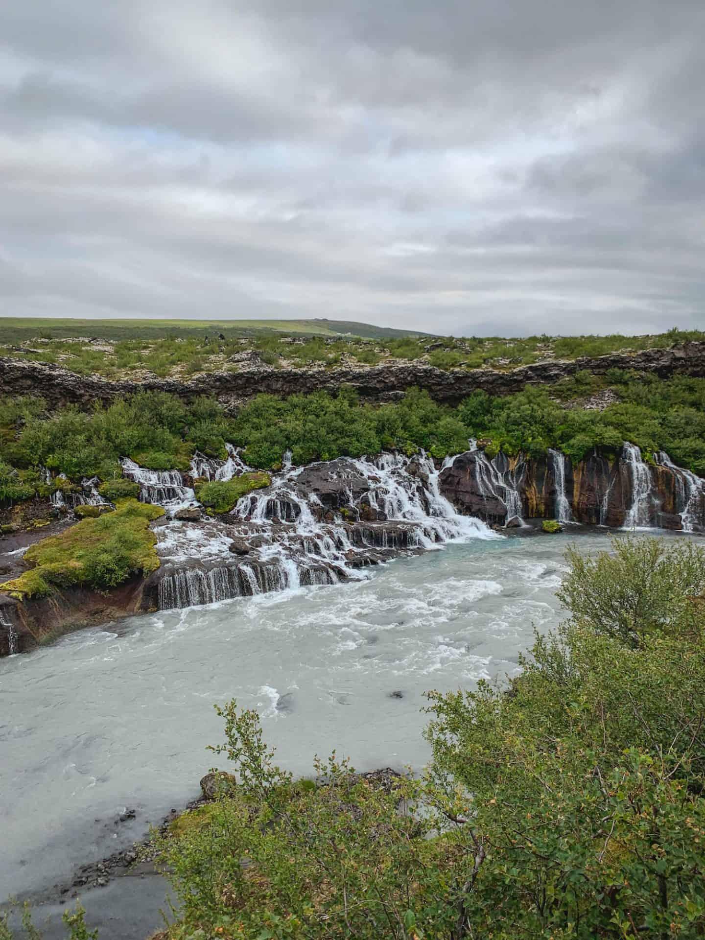 Hraunfossar & Barnafoss Waterfalls in Iceland