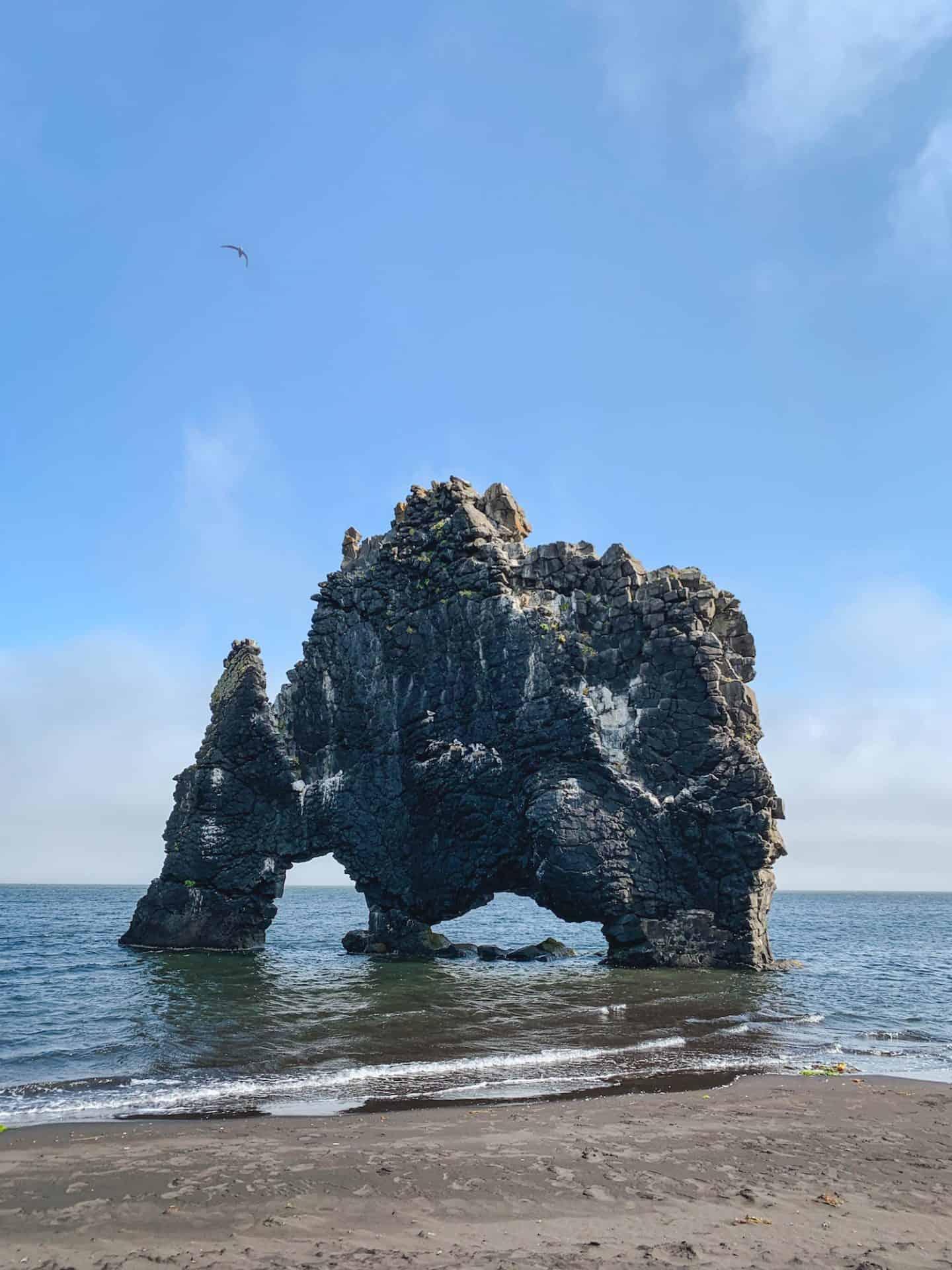 Hvitserkur elephant rock in North Iceland