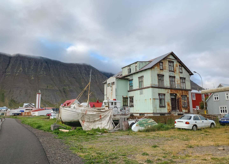 Ísafjörður in the Westfjords of Iceland