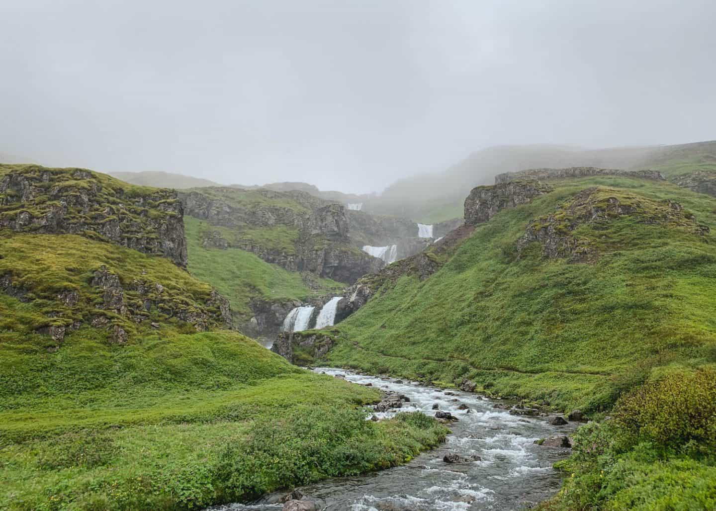 Klifbrekkufossar Waterfall in East Iceland