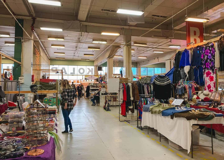 Kolaportid Flea Market in Reykjavik, Iceland