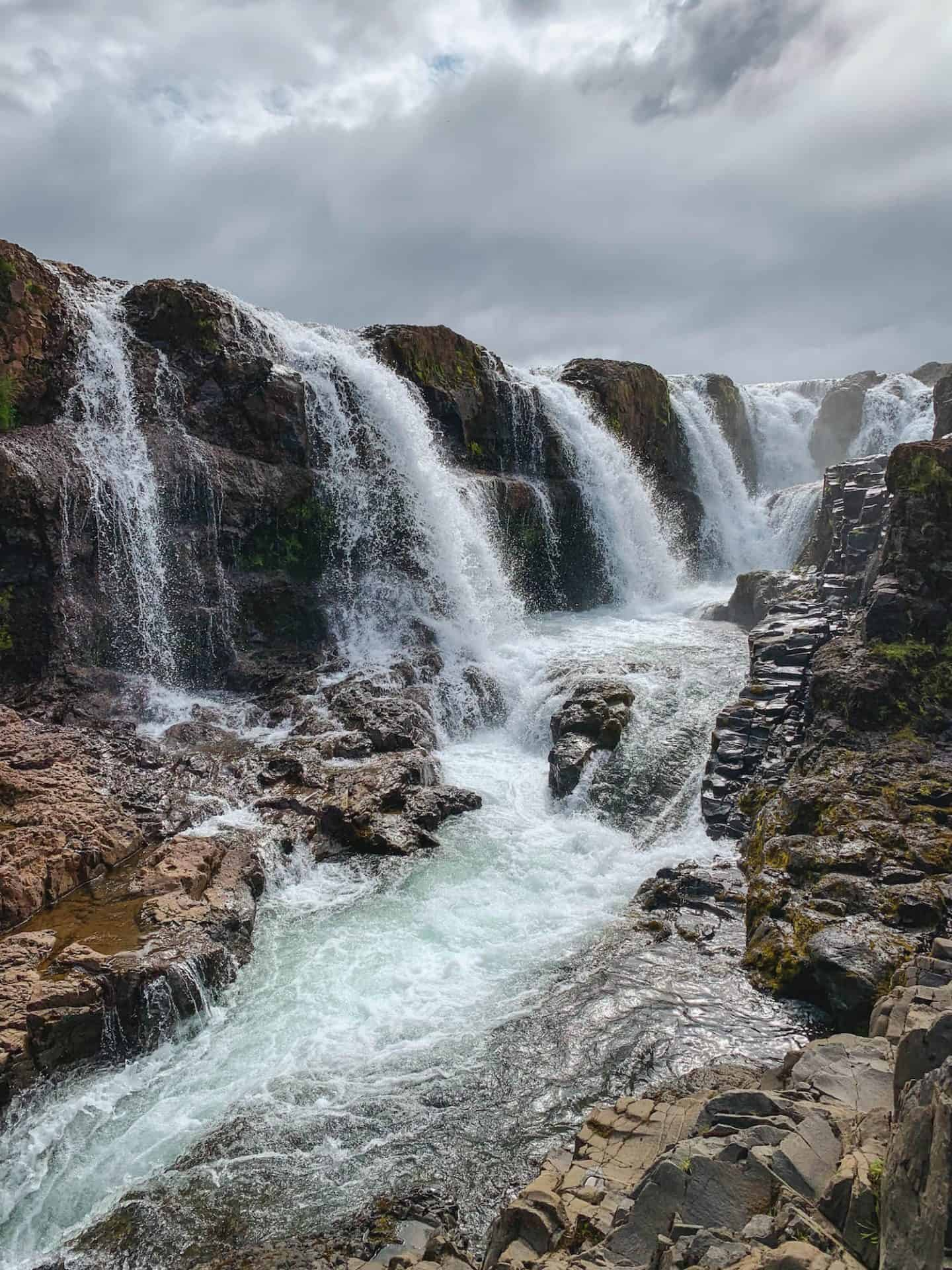 Kolugljufur Waterfall in North Iceland
