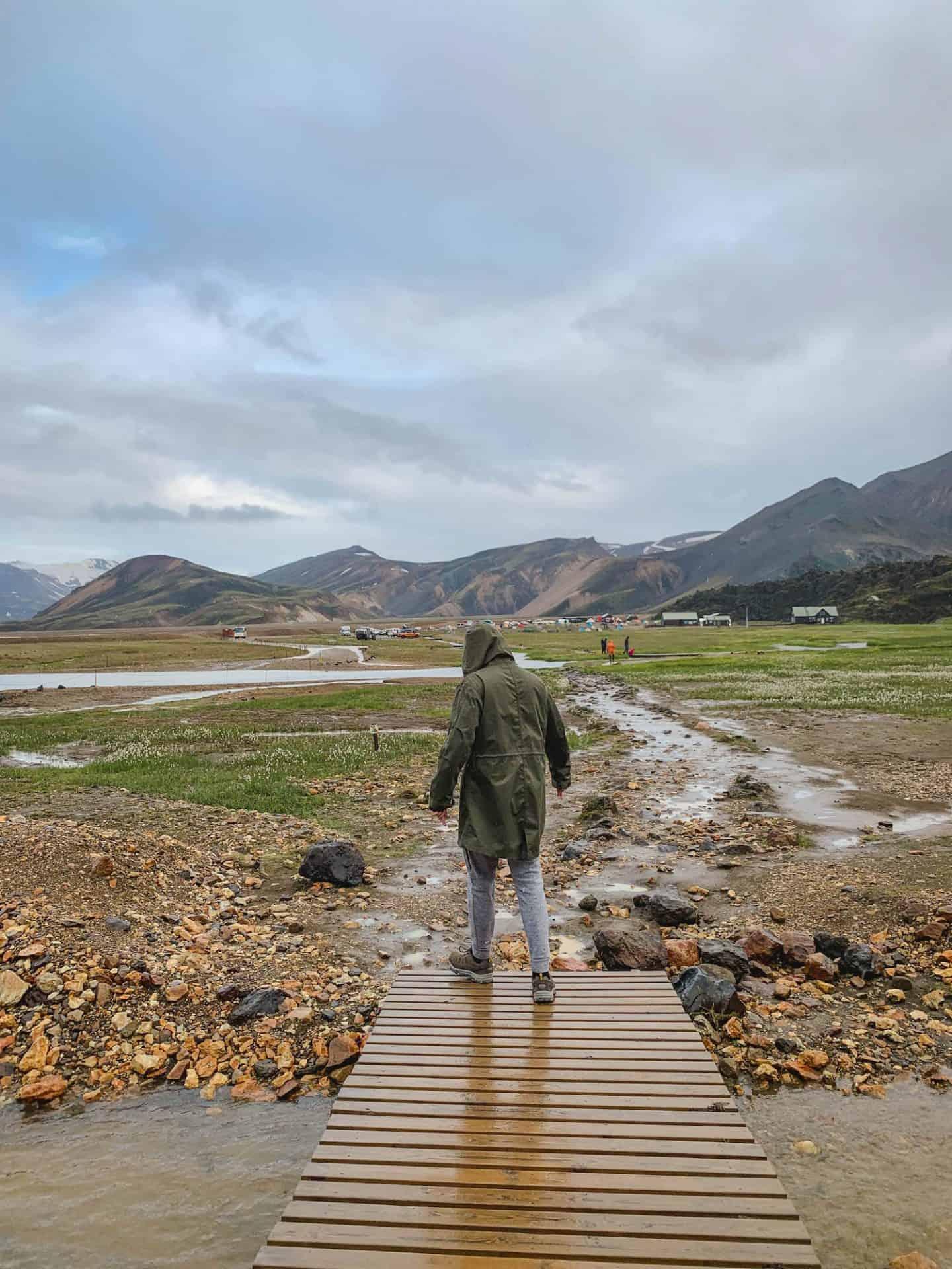 Landmannalaugar campsite in Icelandic Highlands
