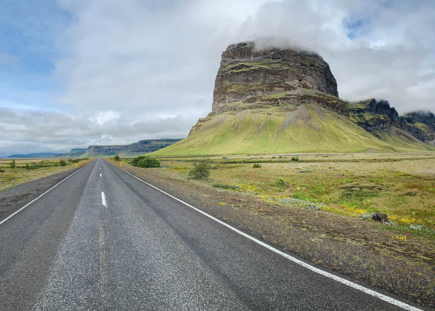 Lómagnúpur Mountain along the Ring Road in Iceland