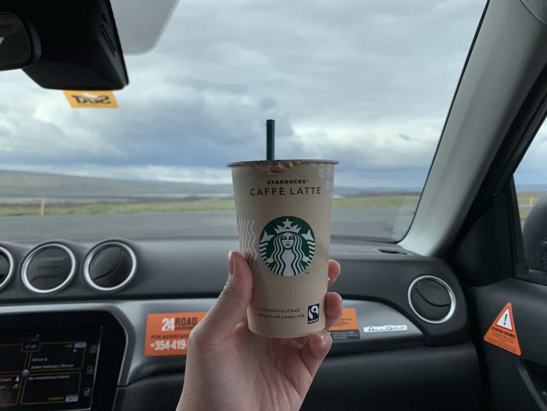 Starbucks Cafe Latte Drink in Iceland