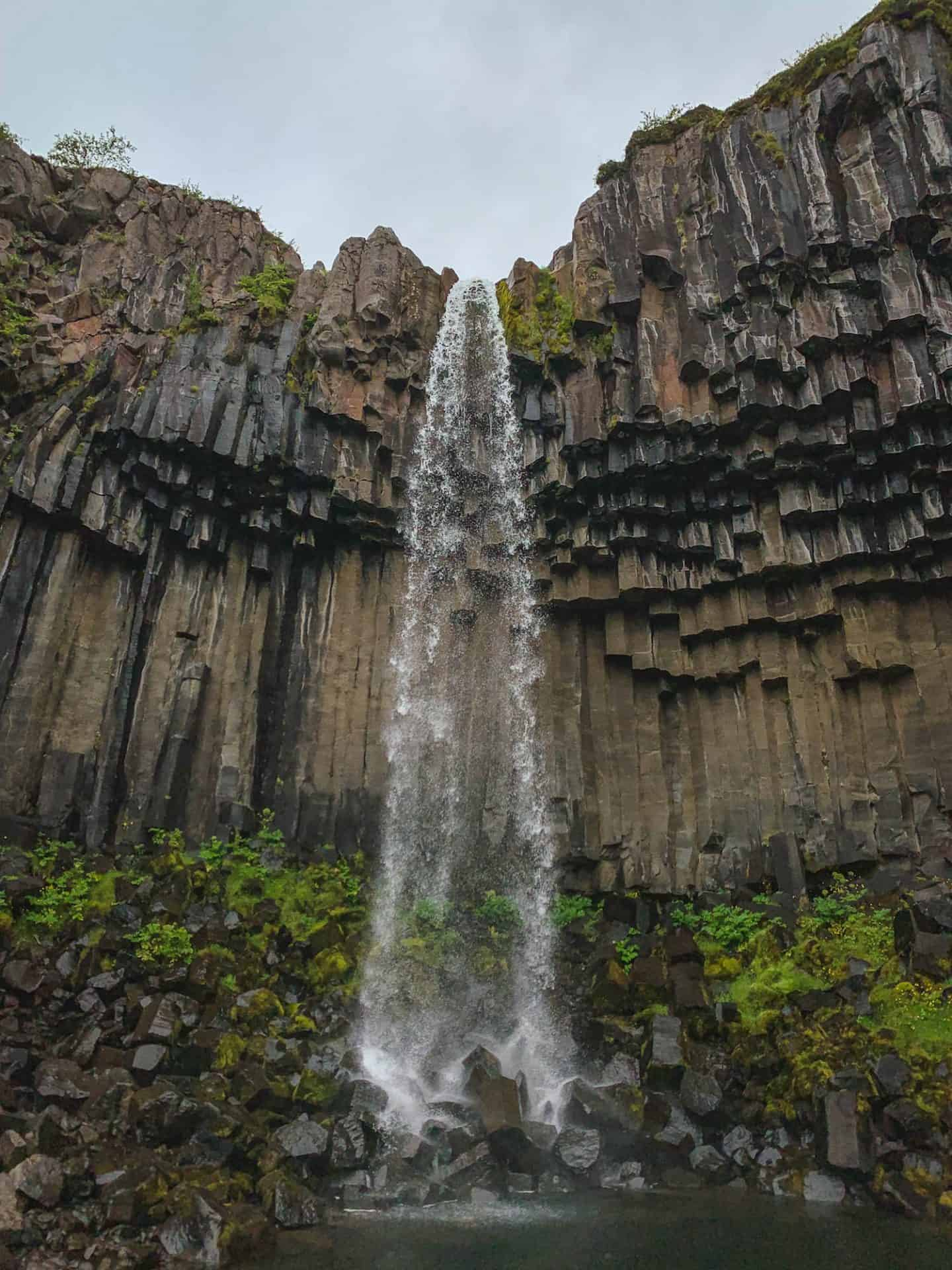 Svartifoss Waterfall along the Ring Road in Iceland