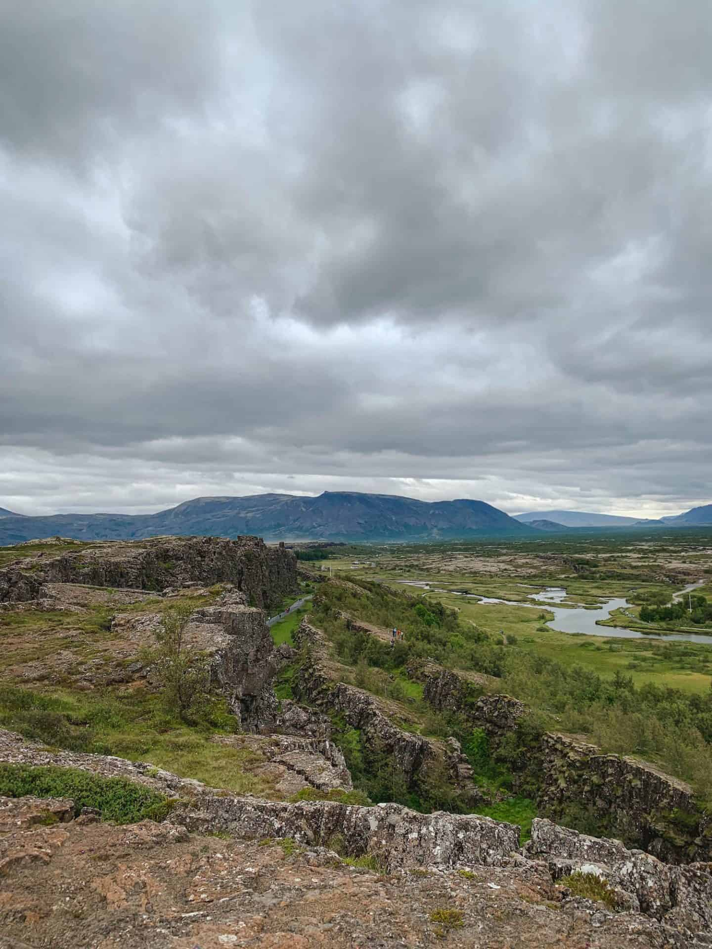 Thingvellir National Park along the Ring Road in Iceland