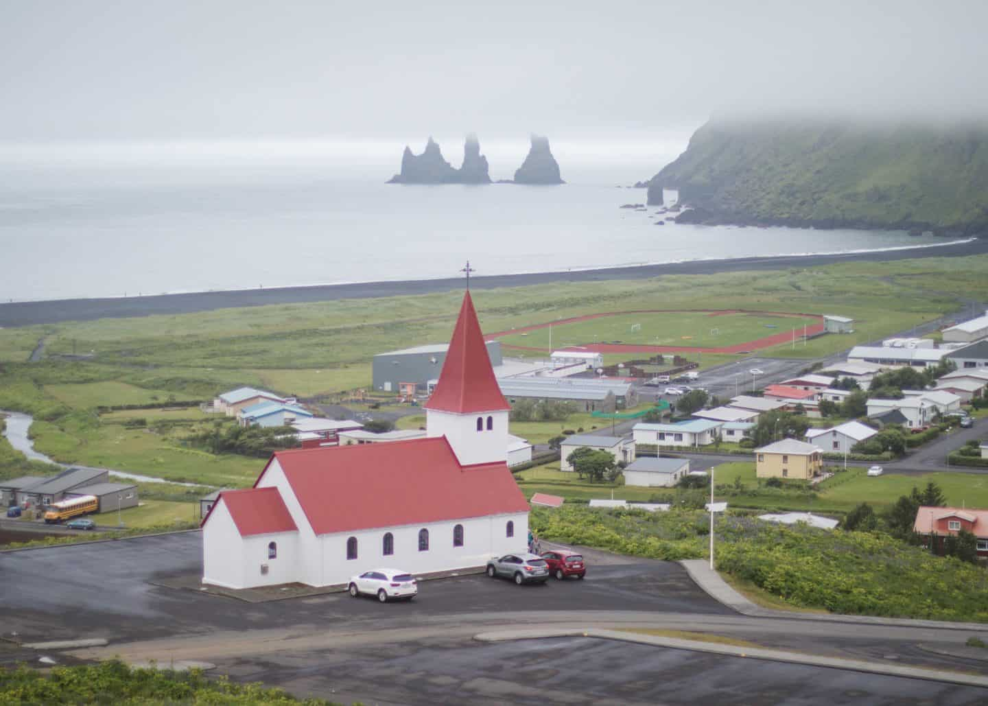 Vik Church along the Ring Road in Iceland