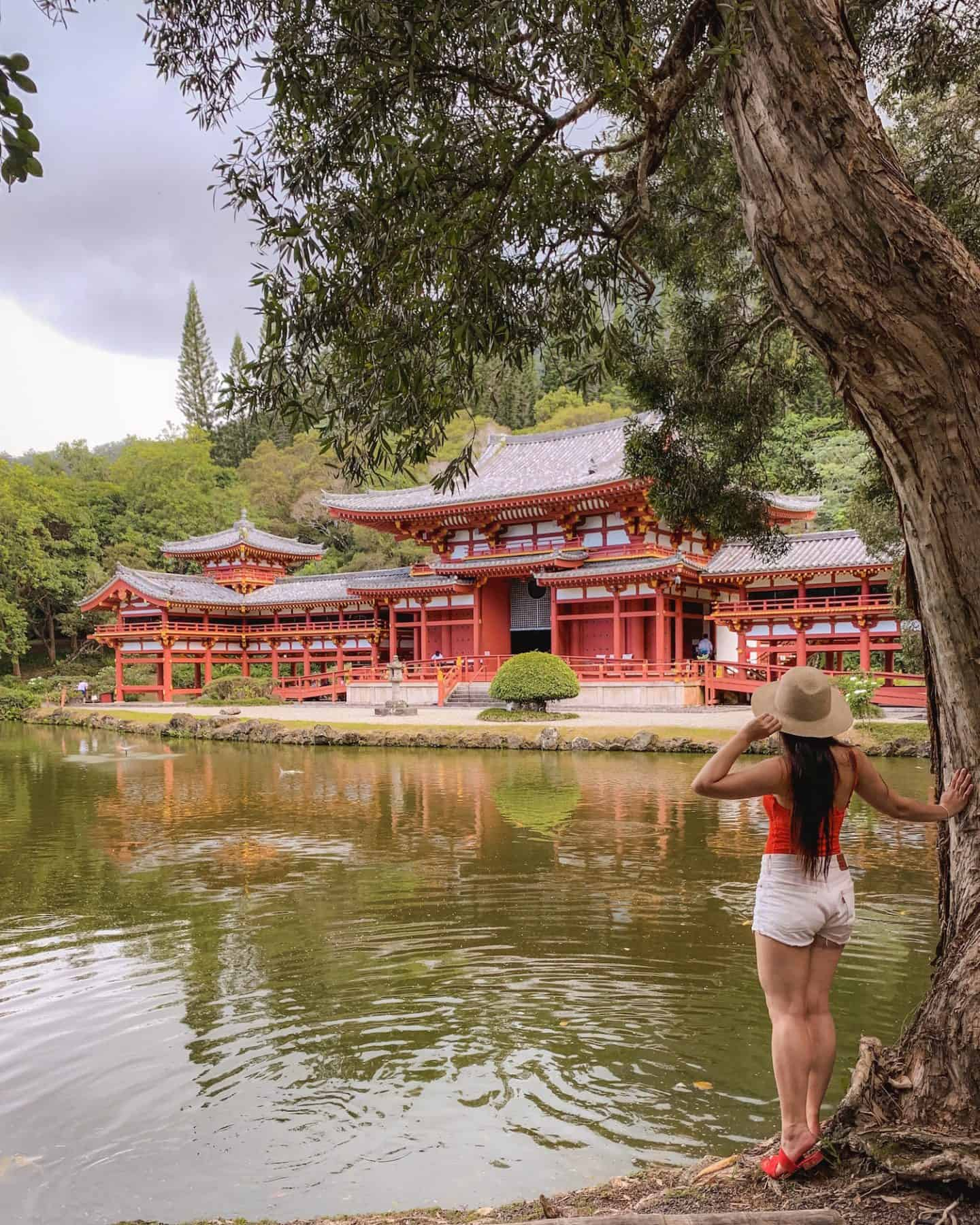 Byodo-In Temple is a Japanese temple in Oahu, Hawaii
