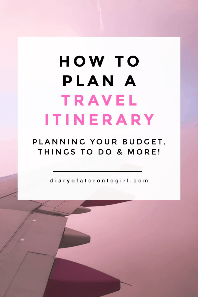 How to plan the perfect travel itinerary | tips on planning an international trip with friends | HSBC +Rewards Mastercard credit card benefits | best travel credit cards for Canadians | Diary of a Toronto Girl, a Canadian lifestyle blog