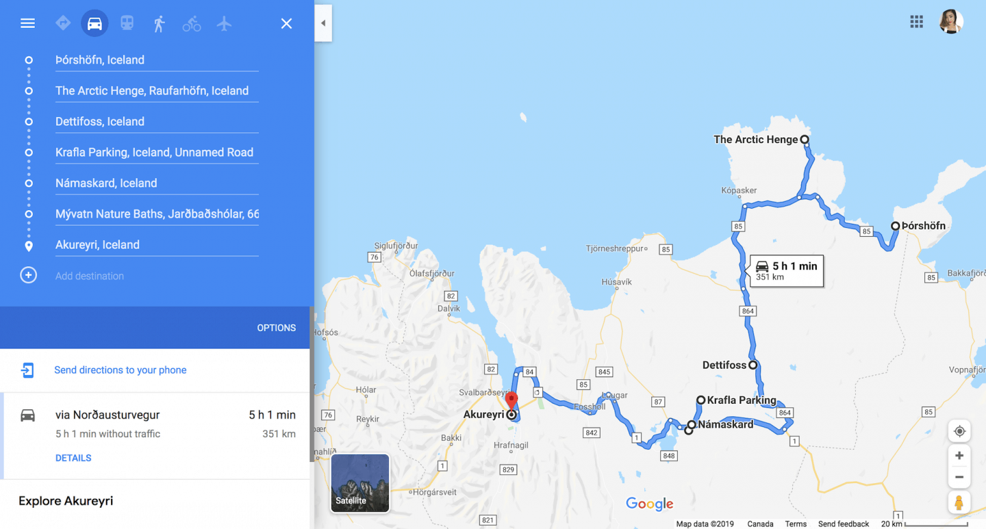 Google Maps is a great resource for planning your travel itinerary