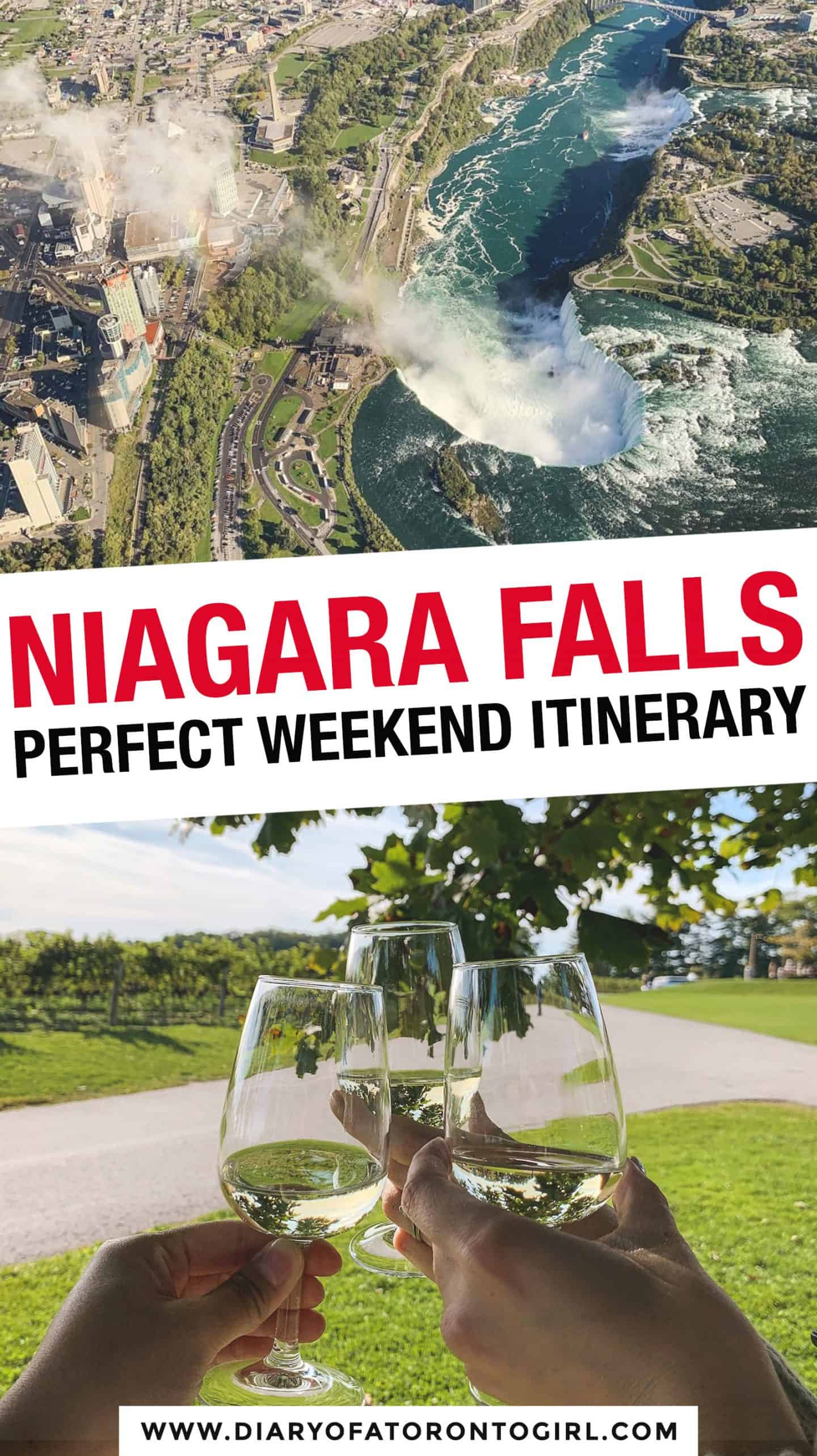 Planning a visit to Niagara Falls on the Canadian side? Here's the ultimate travel itinerary and guide on how to spend the perfect weekend in Niagara Falls, Ontario!