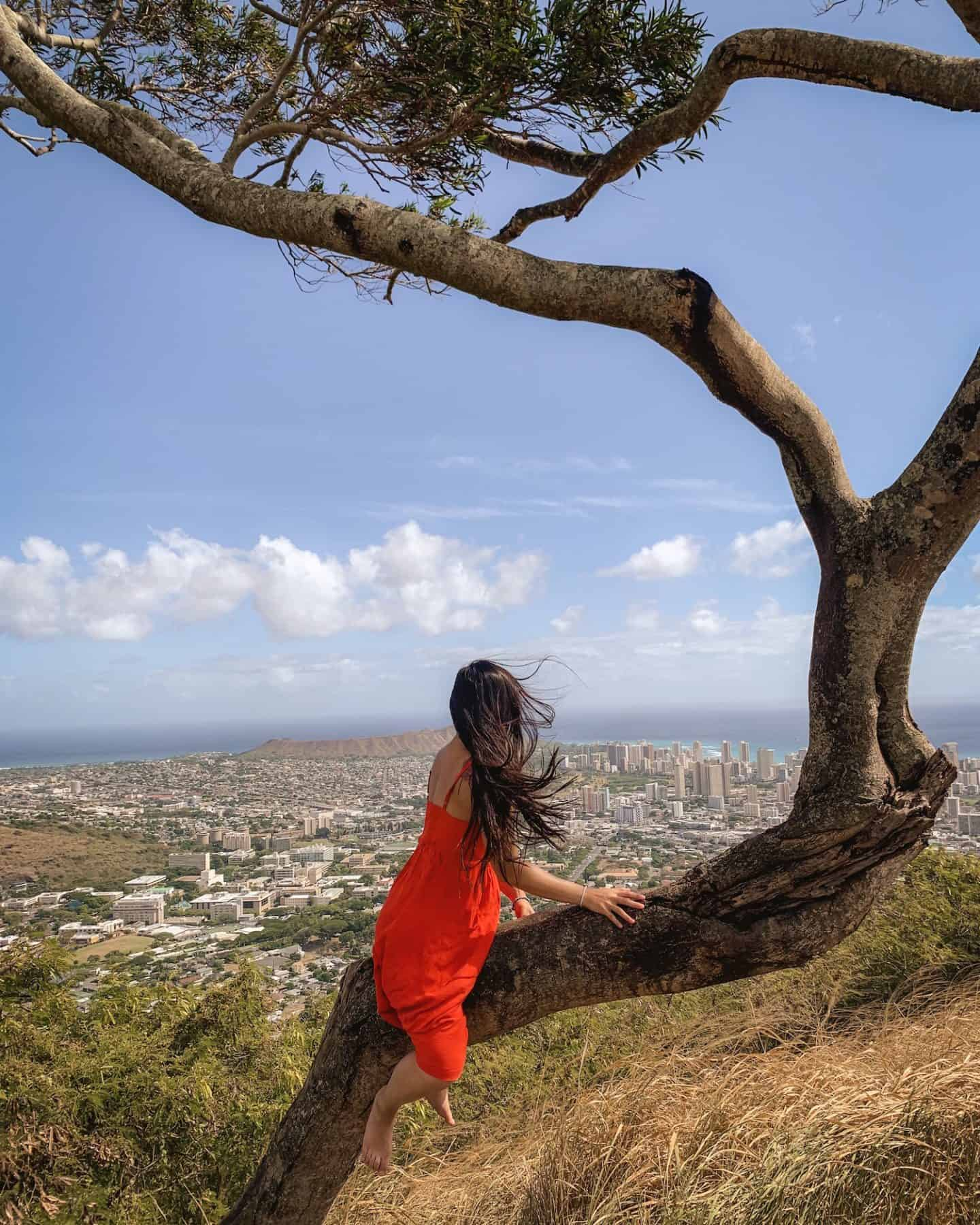 The Tantalus Lookout in Oahu, Hawaii