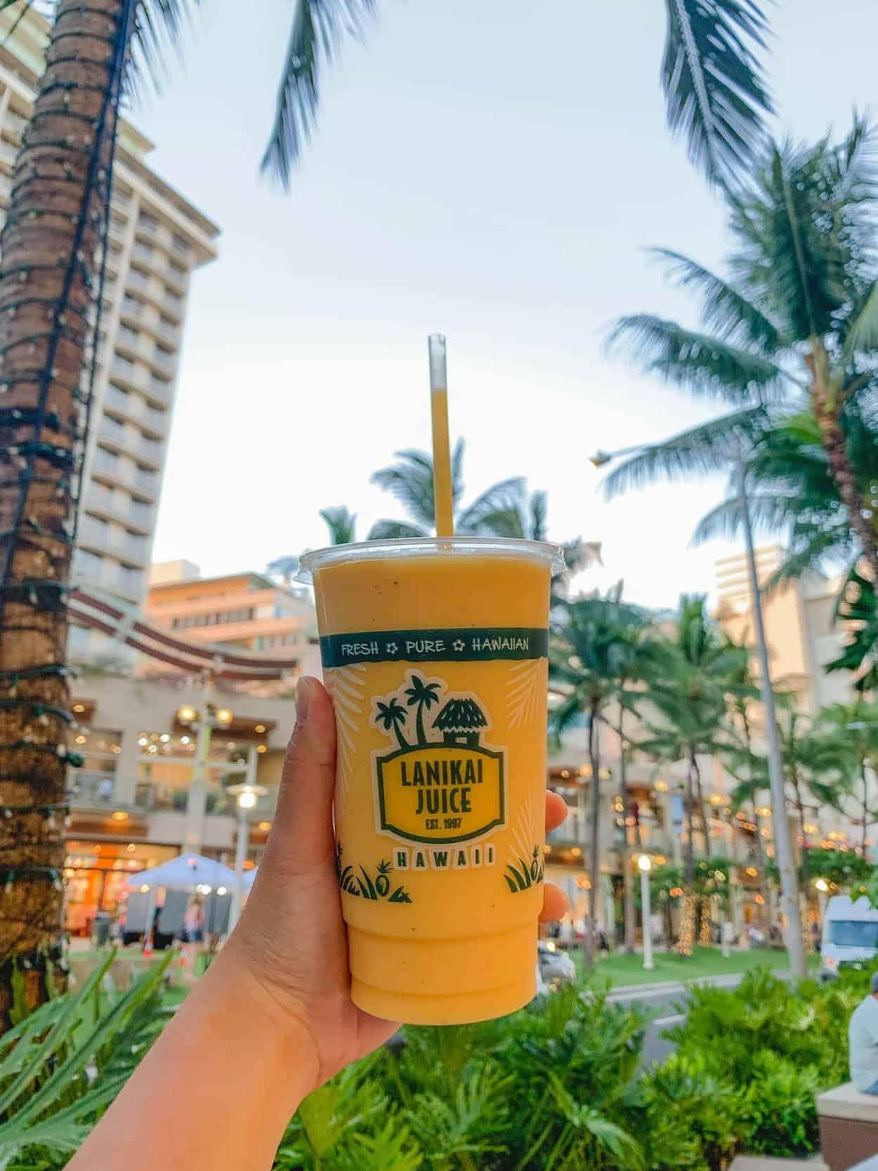 Lanikai Juice in Waikiki, Oahu, Hawaii