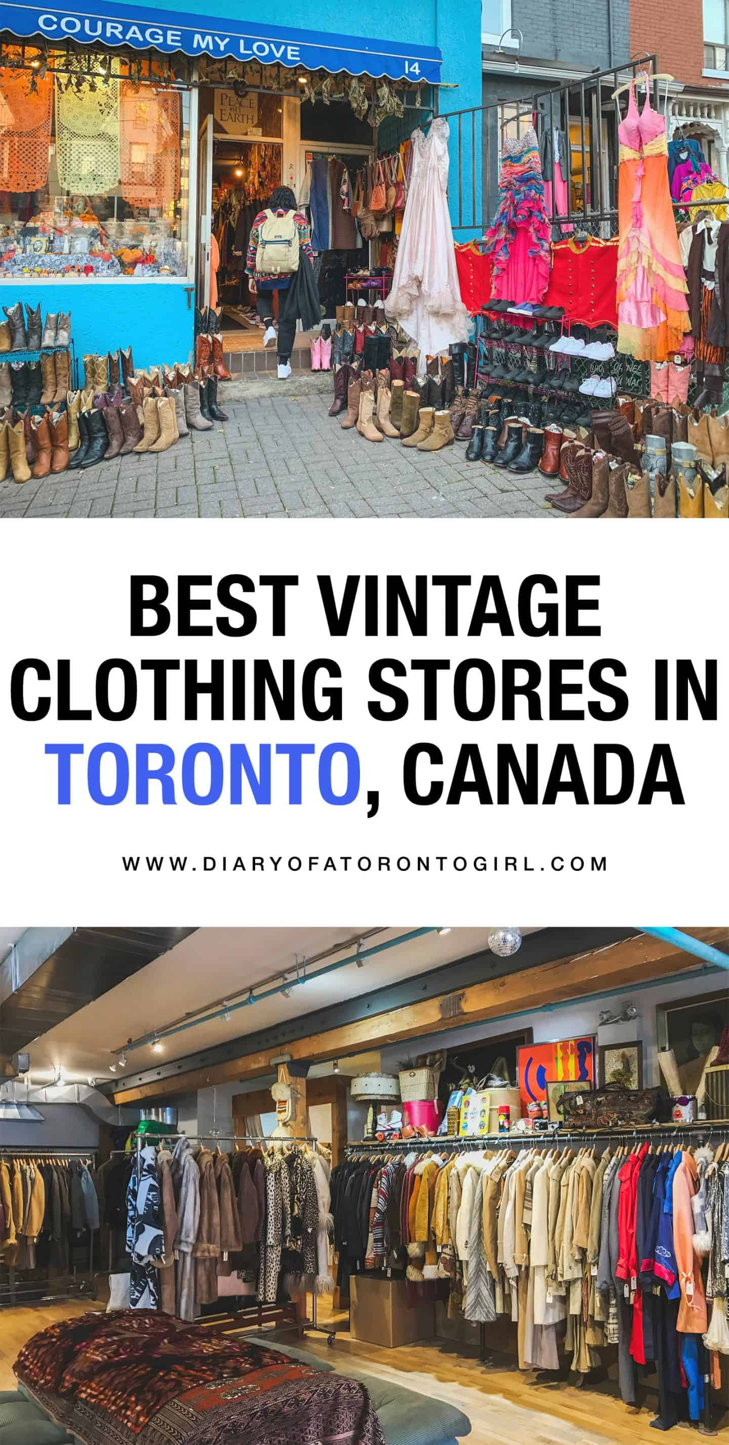The best Toronto vintage, consignment, and thrift clothing stores to shop at. Toronto is a stylish city, and you'll find tons of amazing pieces at these local gems!