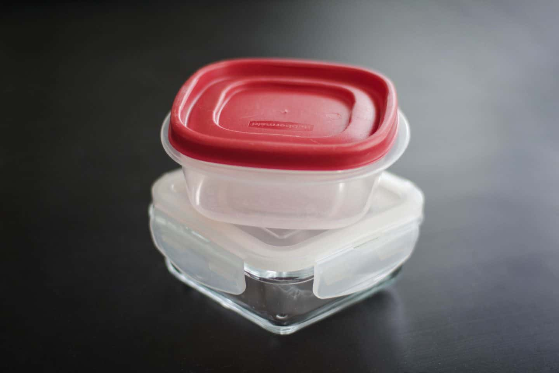 Reusable plastic tupperware