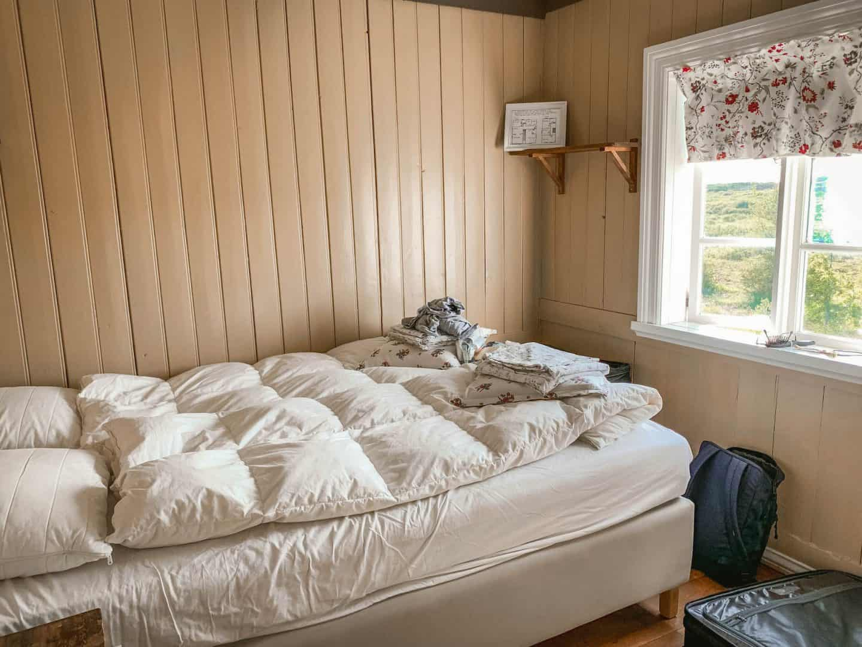 Bedroom inside Iceland Airbnb