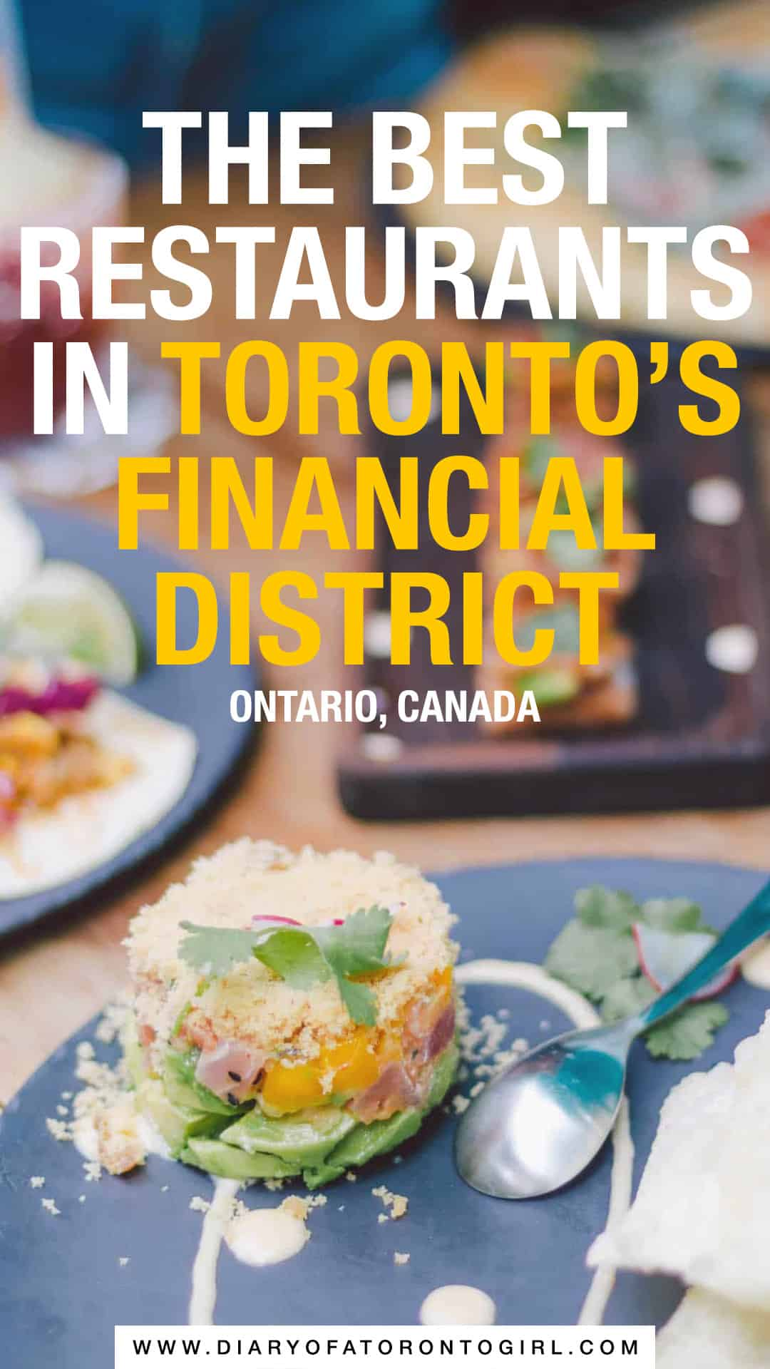 The best restaurants in the Toronto Financial District to visit, whether you're looking for cheap or fancy eats!