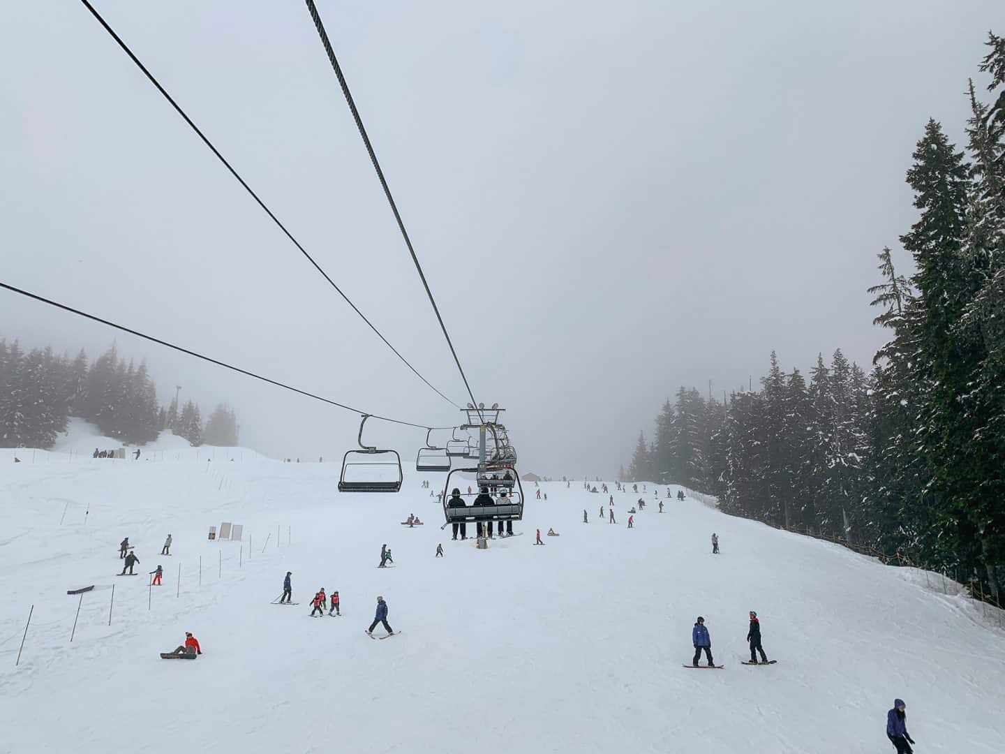 Skiing at Cypress Mountain in Vancouver, British Columbia.