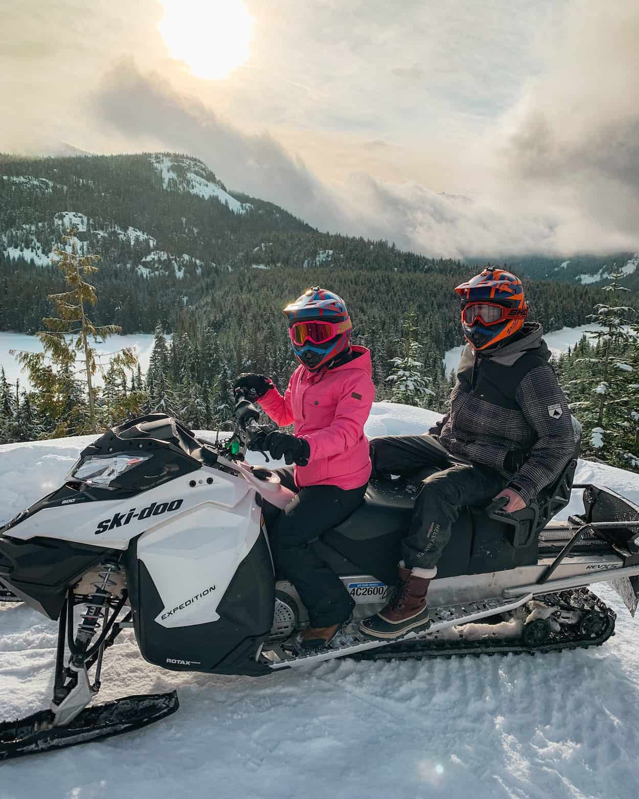 Snowmobile tour with The Adventure Group in Whistler, British Columbia!