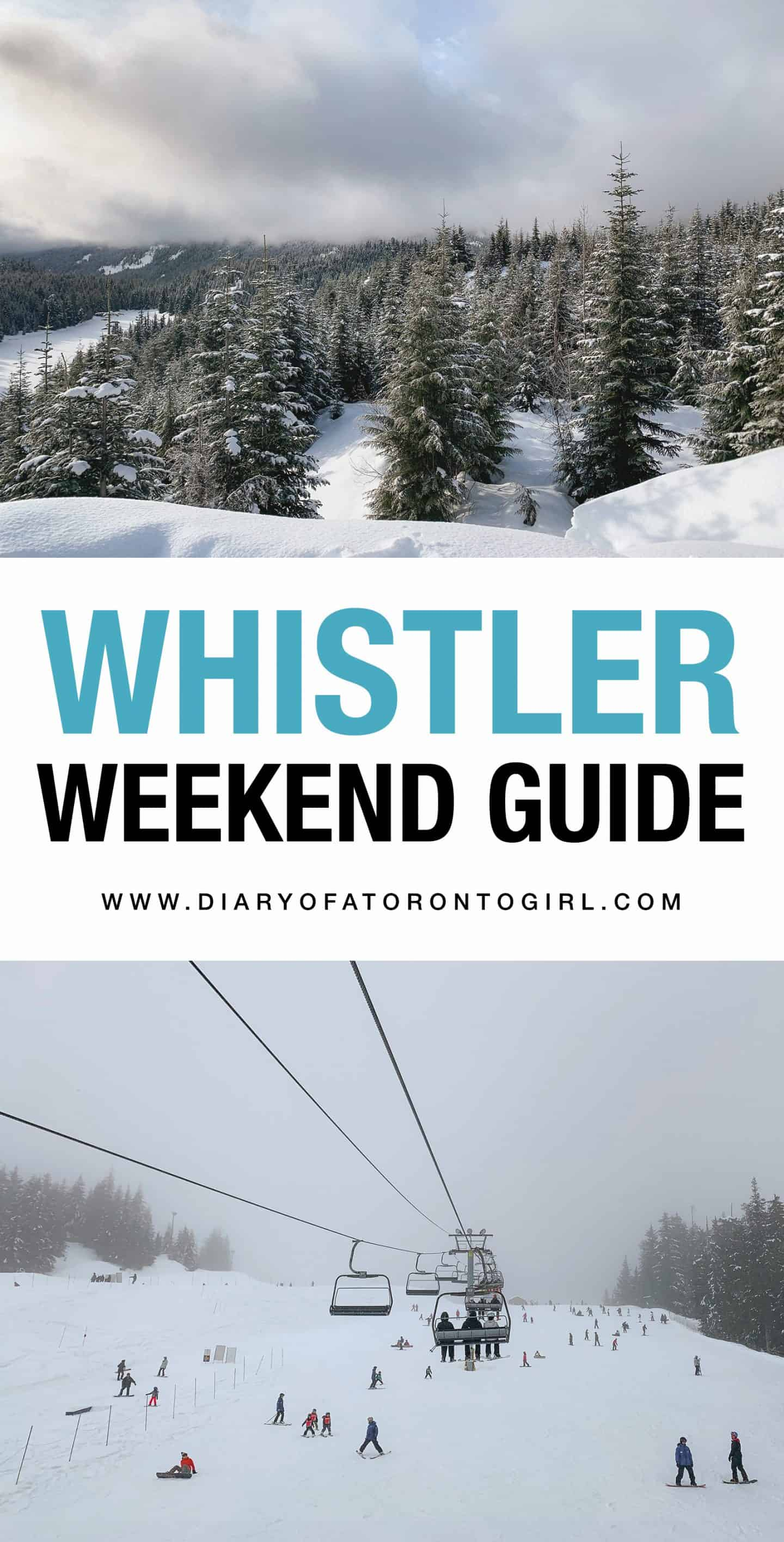 The ultimate guide on how to spend a winter weekend in Whistler, British Columbia!