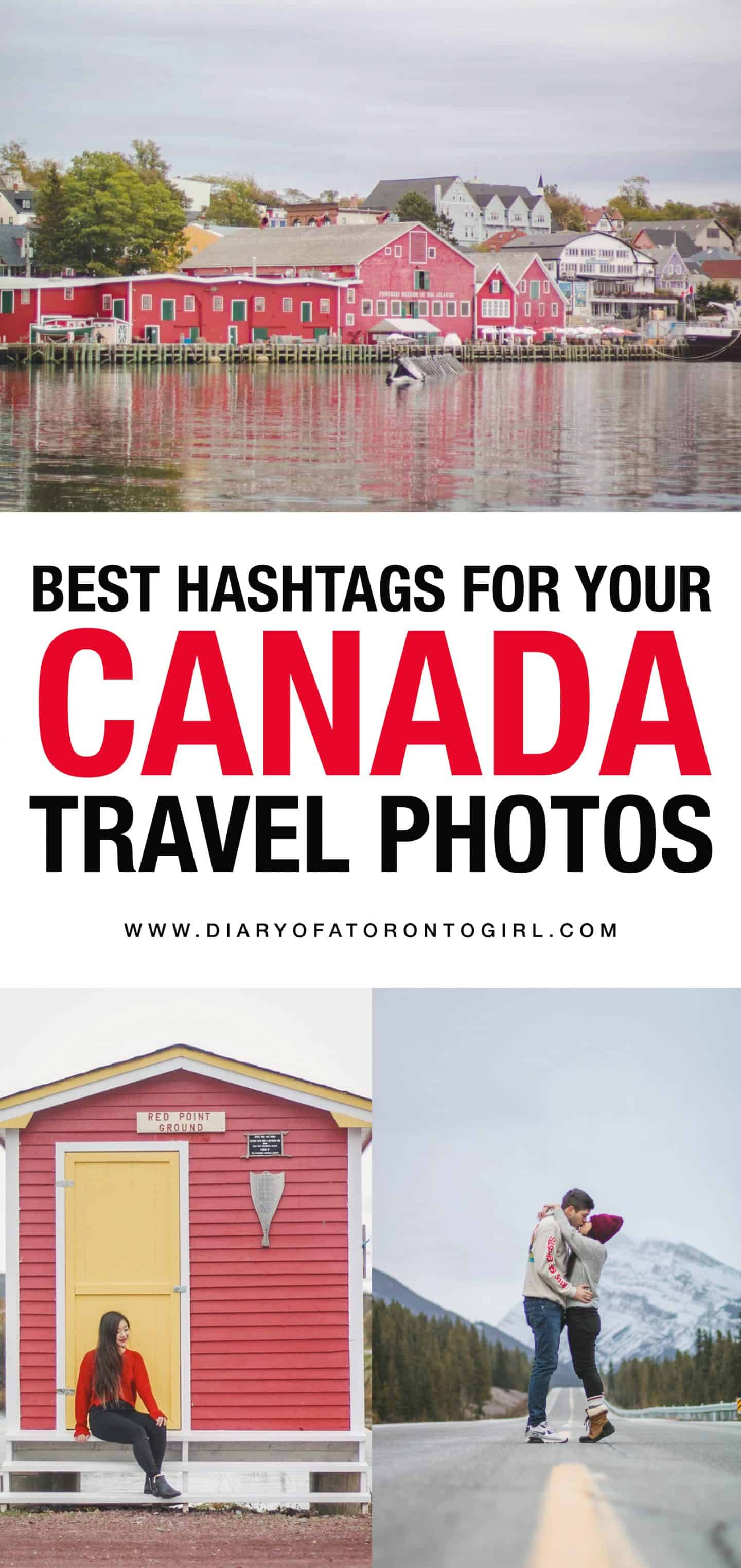 The best Instagram hashtags to use for your Canadian travel photos, in case you're planning a visit to any provinces or territories in Canada!