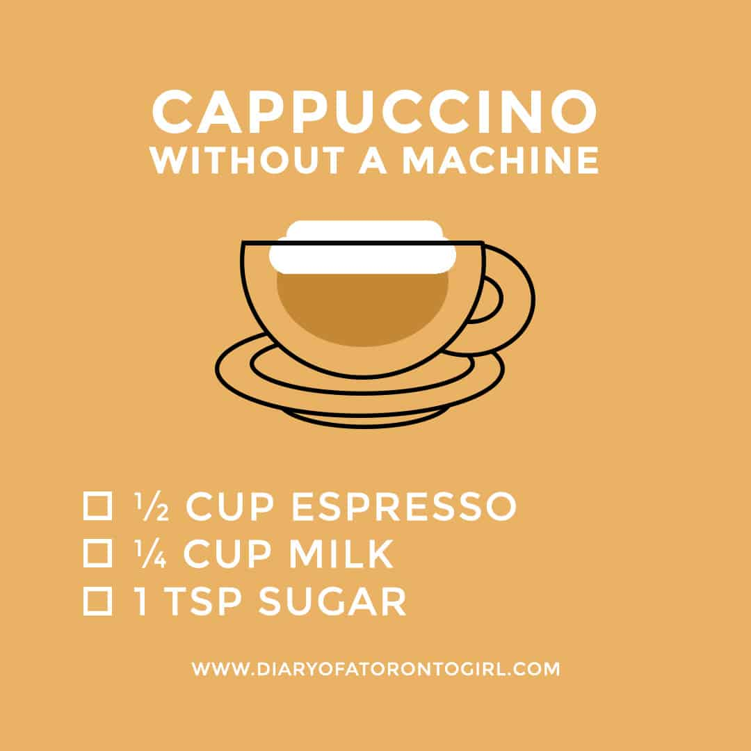 How to make a cappuccino without a cappuccino machine