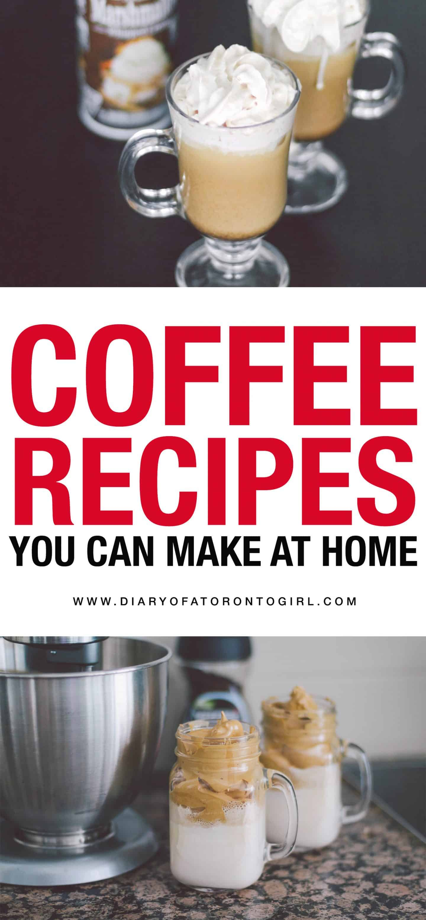 Looking for simple and easy coffee recipes to try at home? Here are a few fun and delicious coffee drink ideas you can try out yourself!