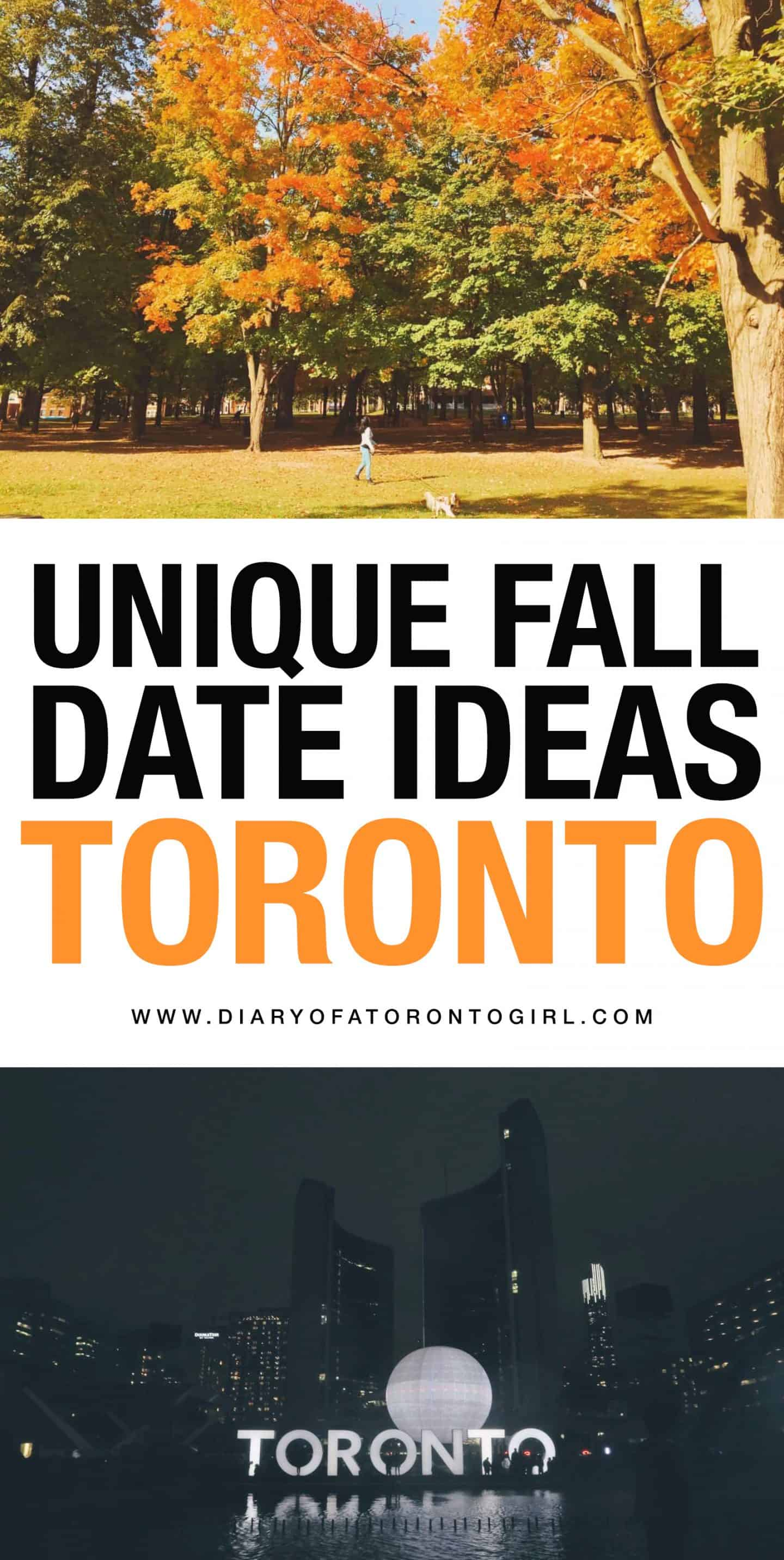 Looking for unique fall date ideas in Toronto? Here are some fun and exciting dates you can go on during the fall season!