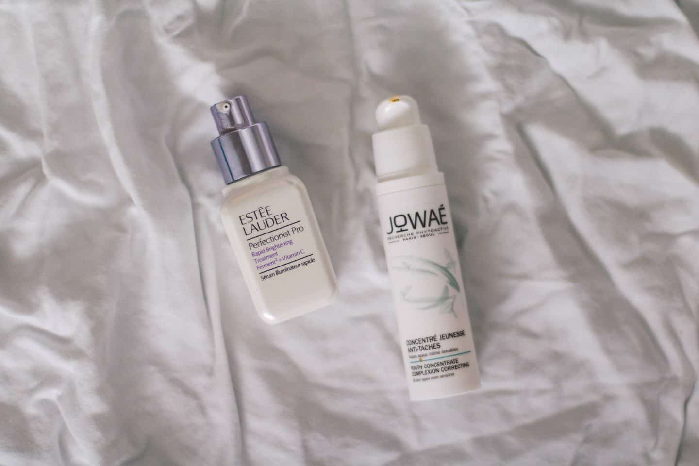 Morning serums in a Korean skincare routine