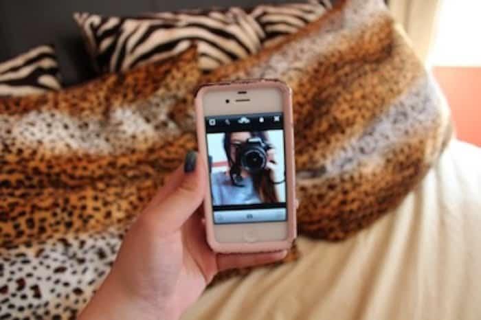 DSLR iPhone selfie