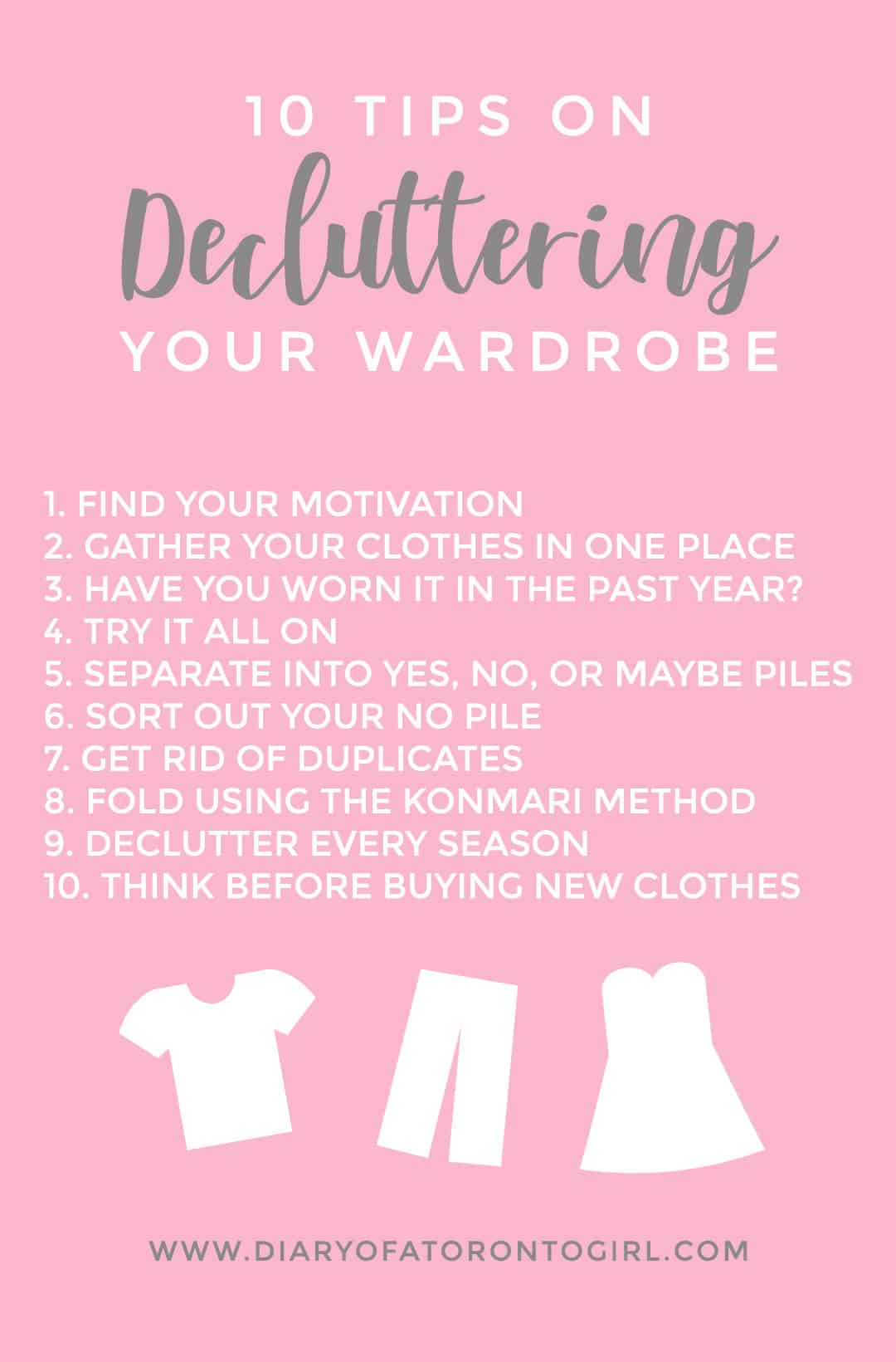 Wardrobe decluttering tips to help you build that minimal capsule wardrobe (or just make more room for new clothes in your closet).