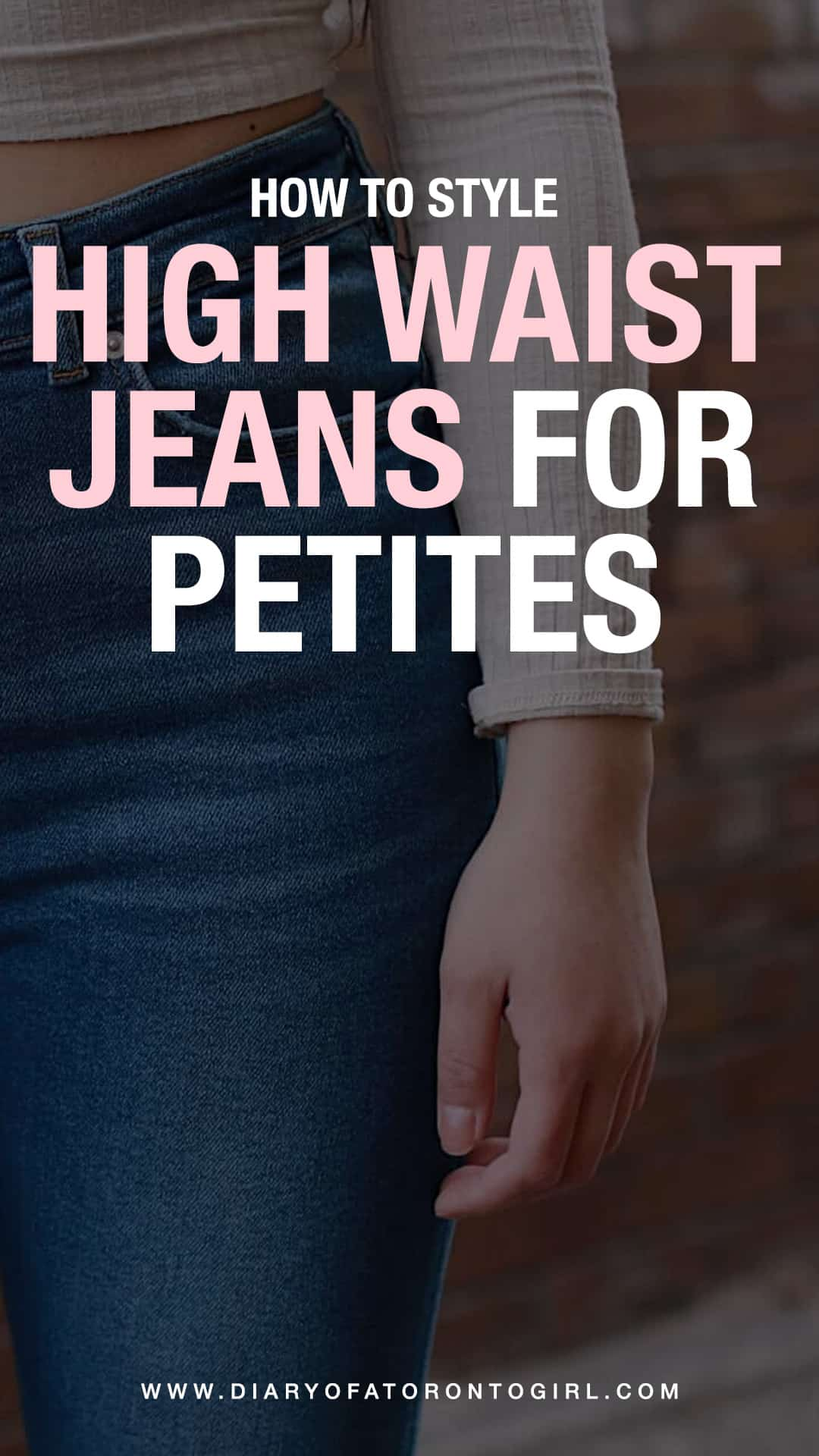 Looking for tips on how to wear high waisted jeans for petites? Here's how to style high waist denim as a short girl, as well as some of the best denim brands for petite women!